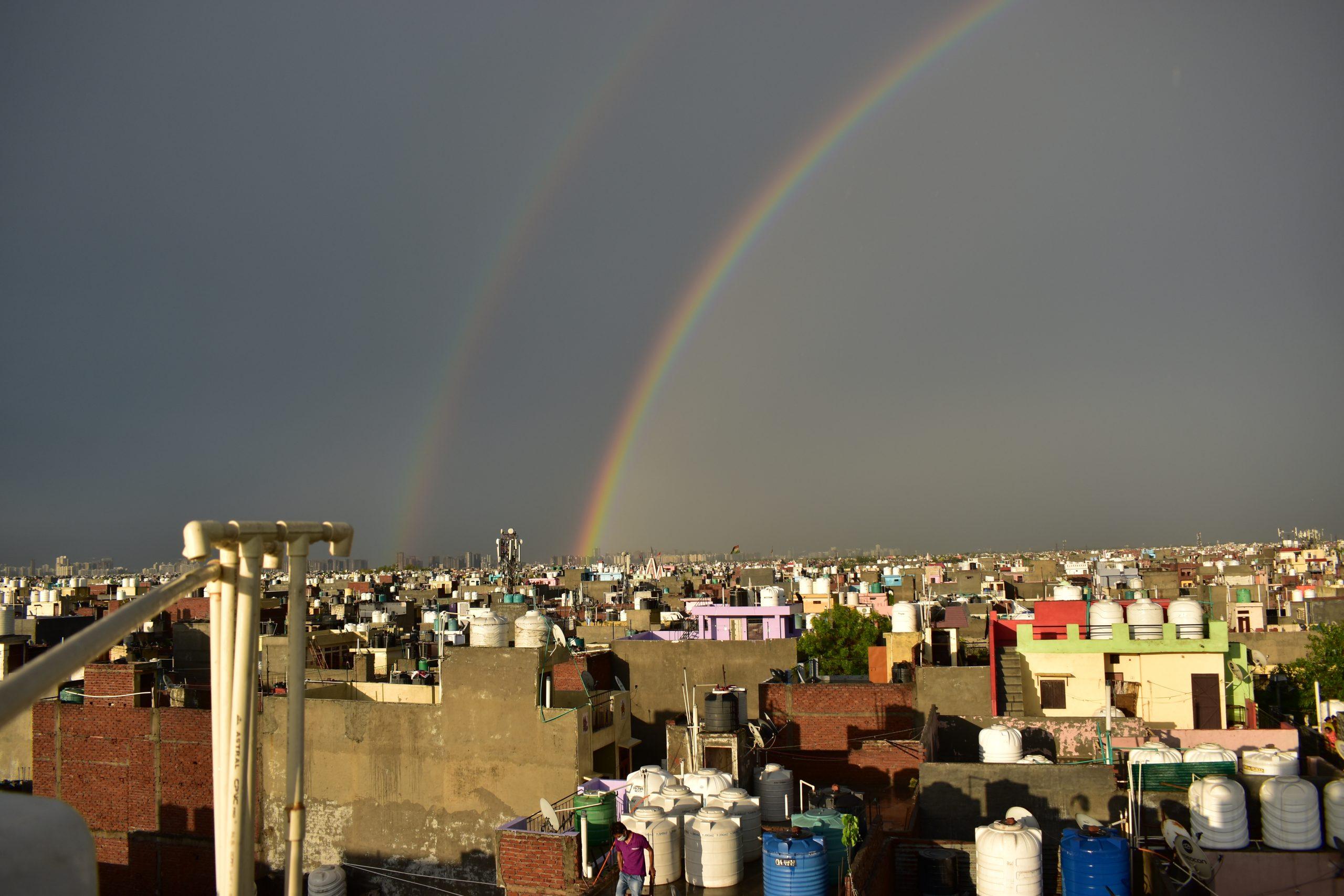 Double Rainbow in Delhi