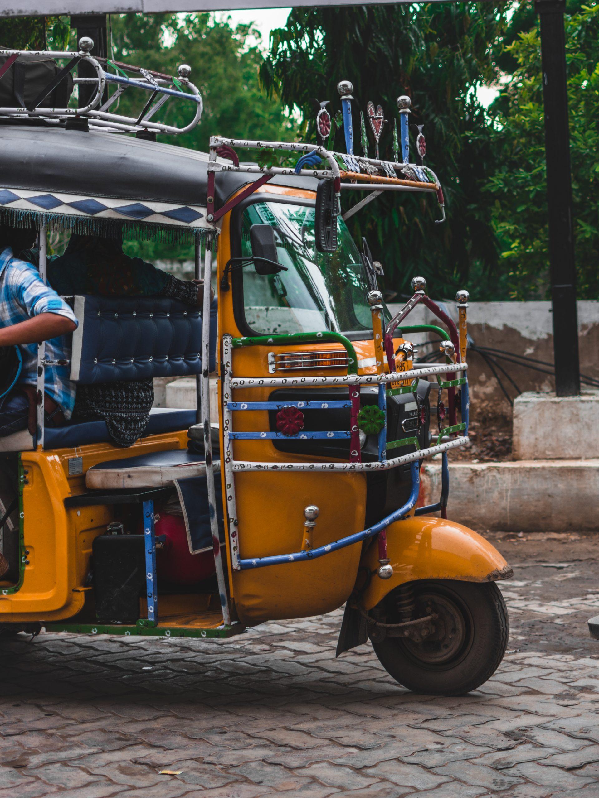 Parked Rickshaw