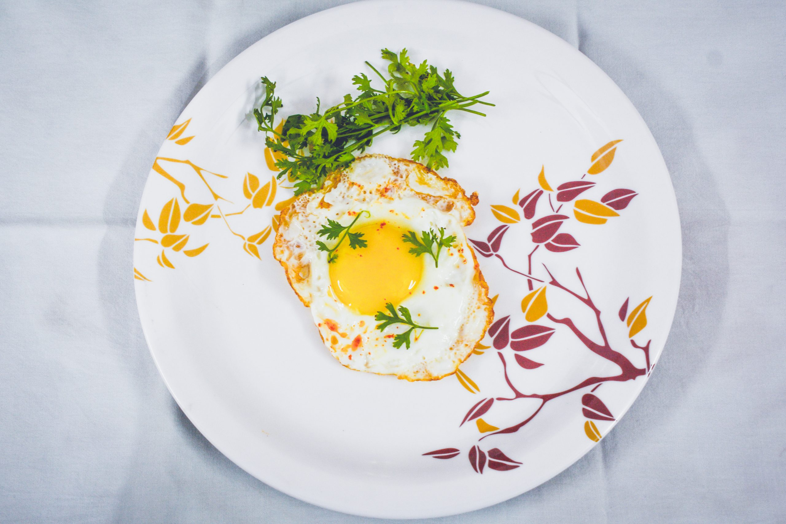 Egg breakfast with Coriander