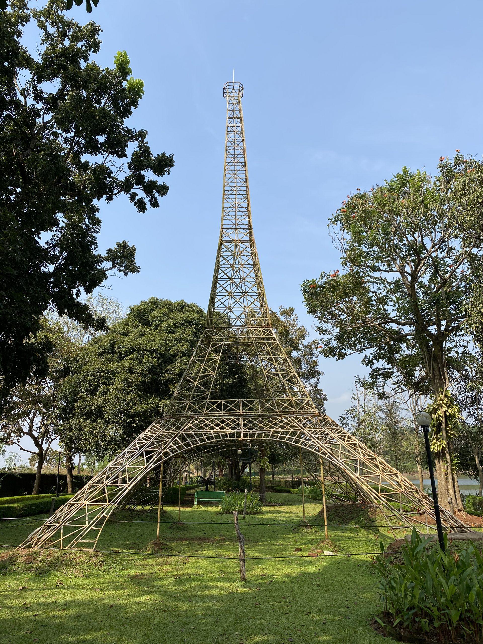 Eiffel Tower in a Park