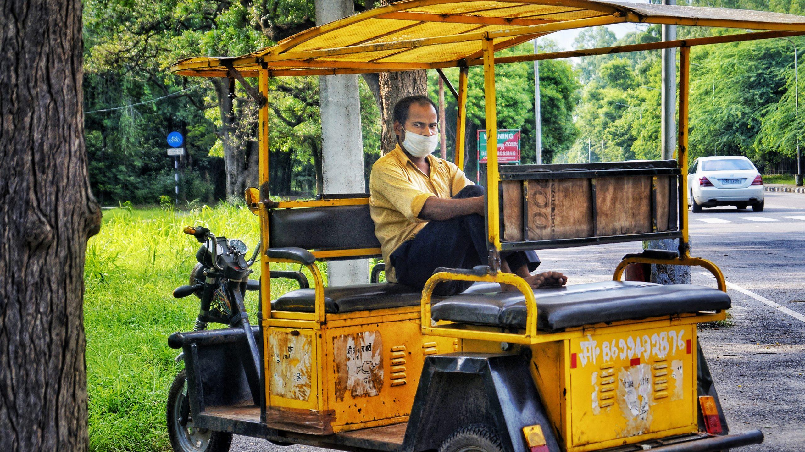 Electric rickshaw driver