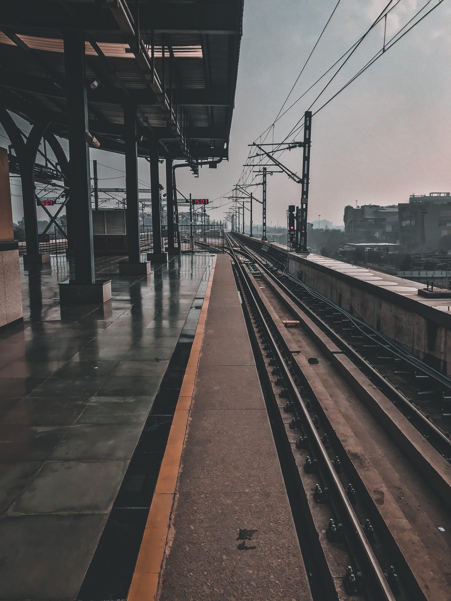 Empty train tracks