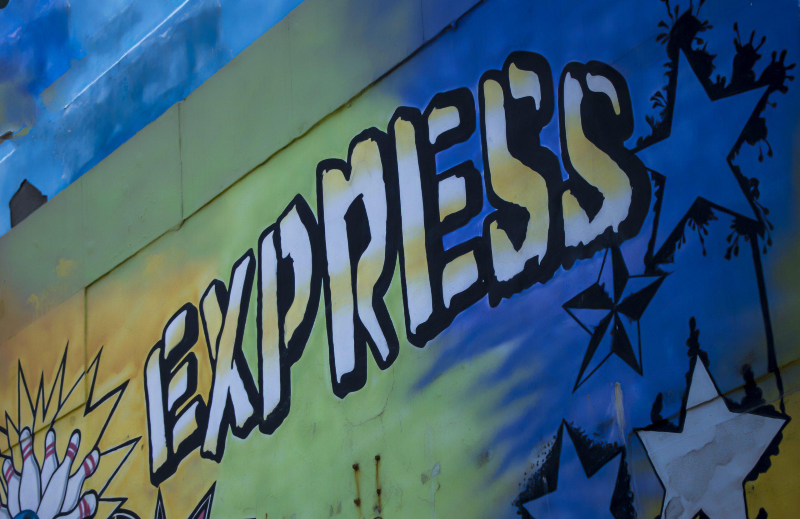 Express written in graffiti
