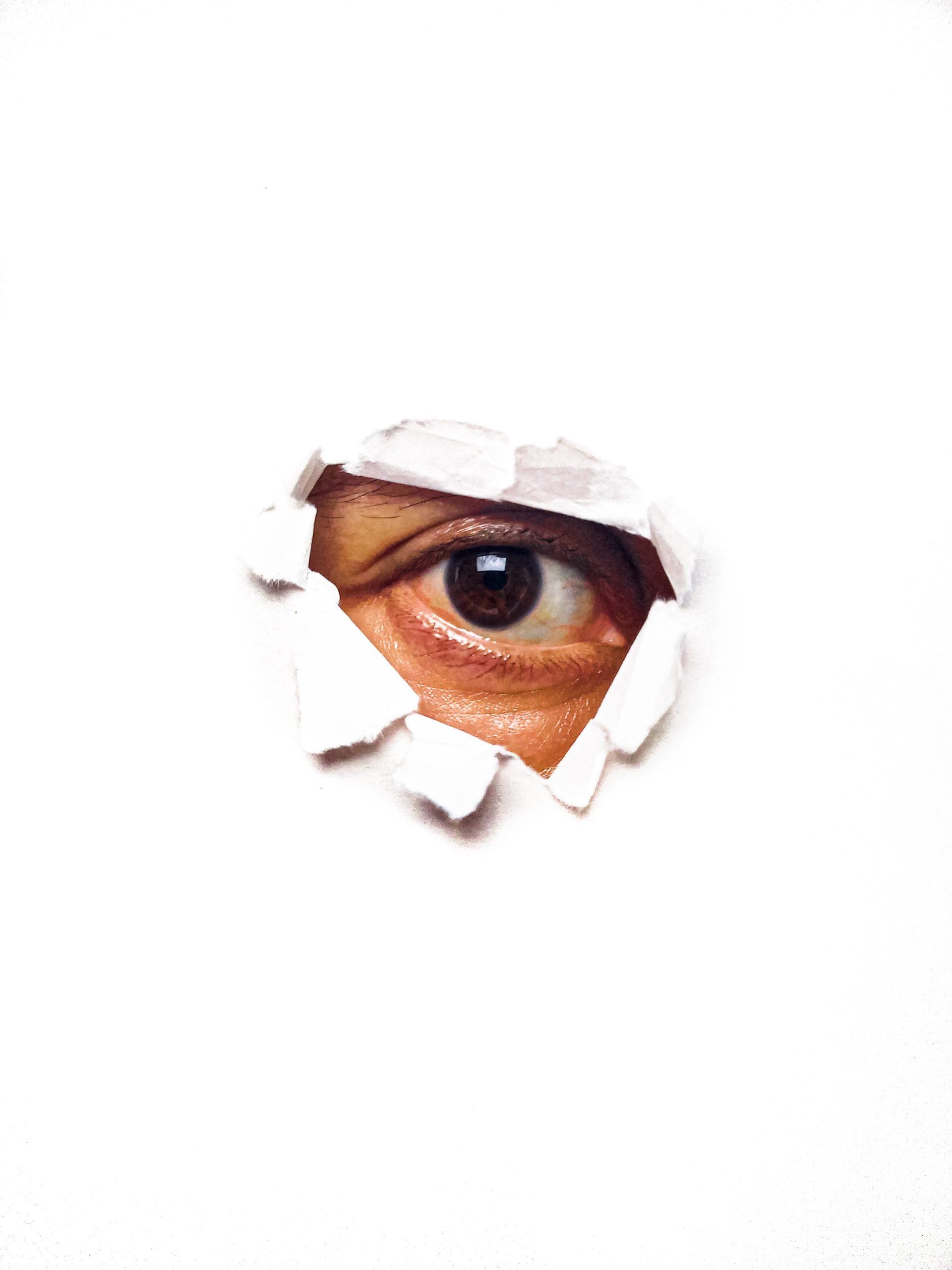 Eye on White Background