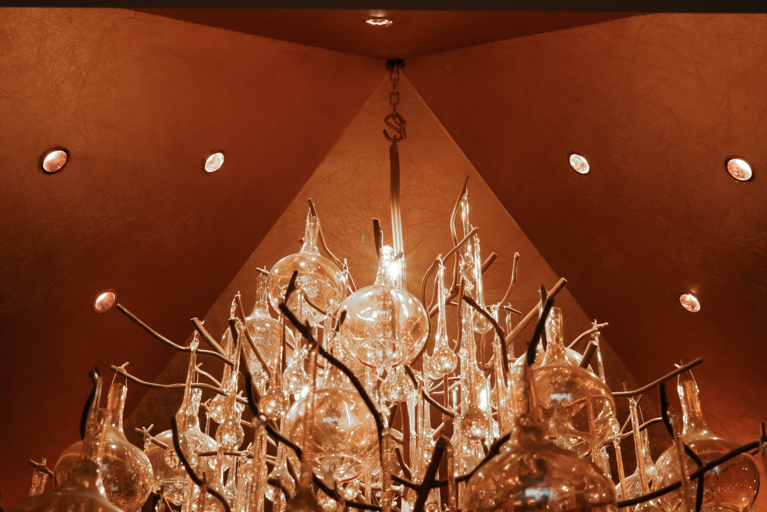 Fairy lights and Chandelier