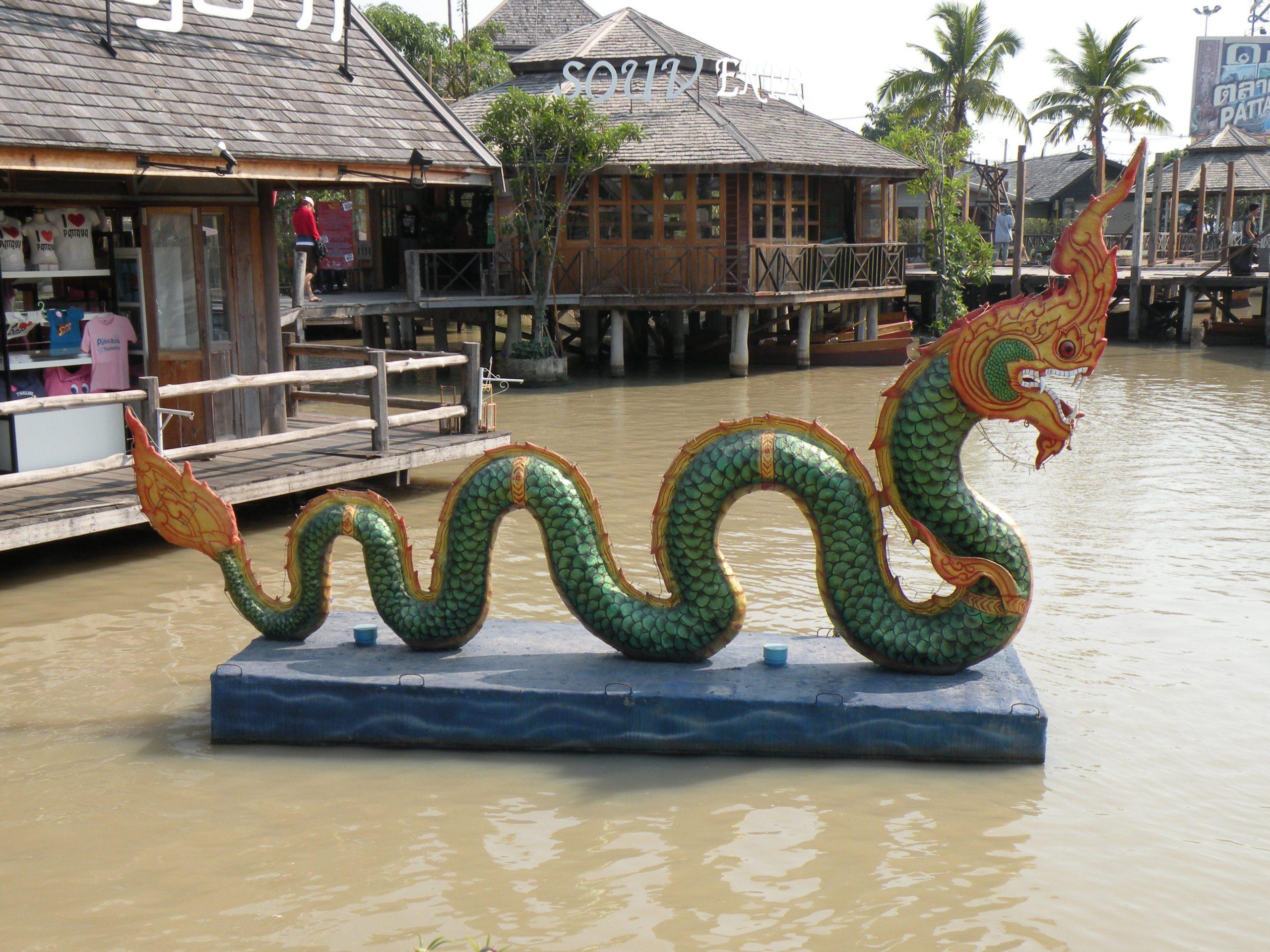 Floating market in Pataya, Thailand.