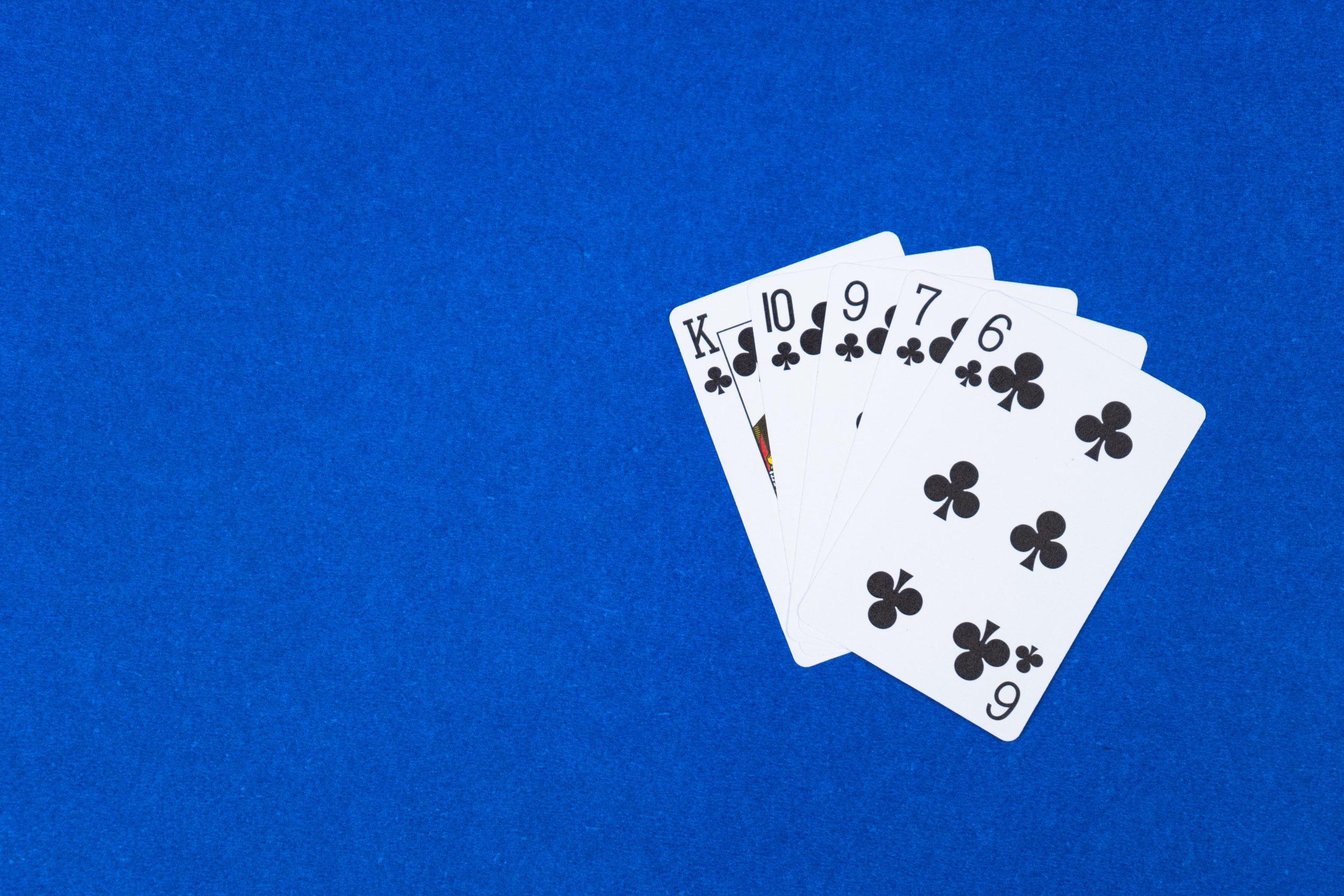 Flush hand in poker