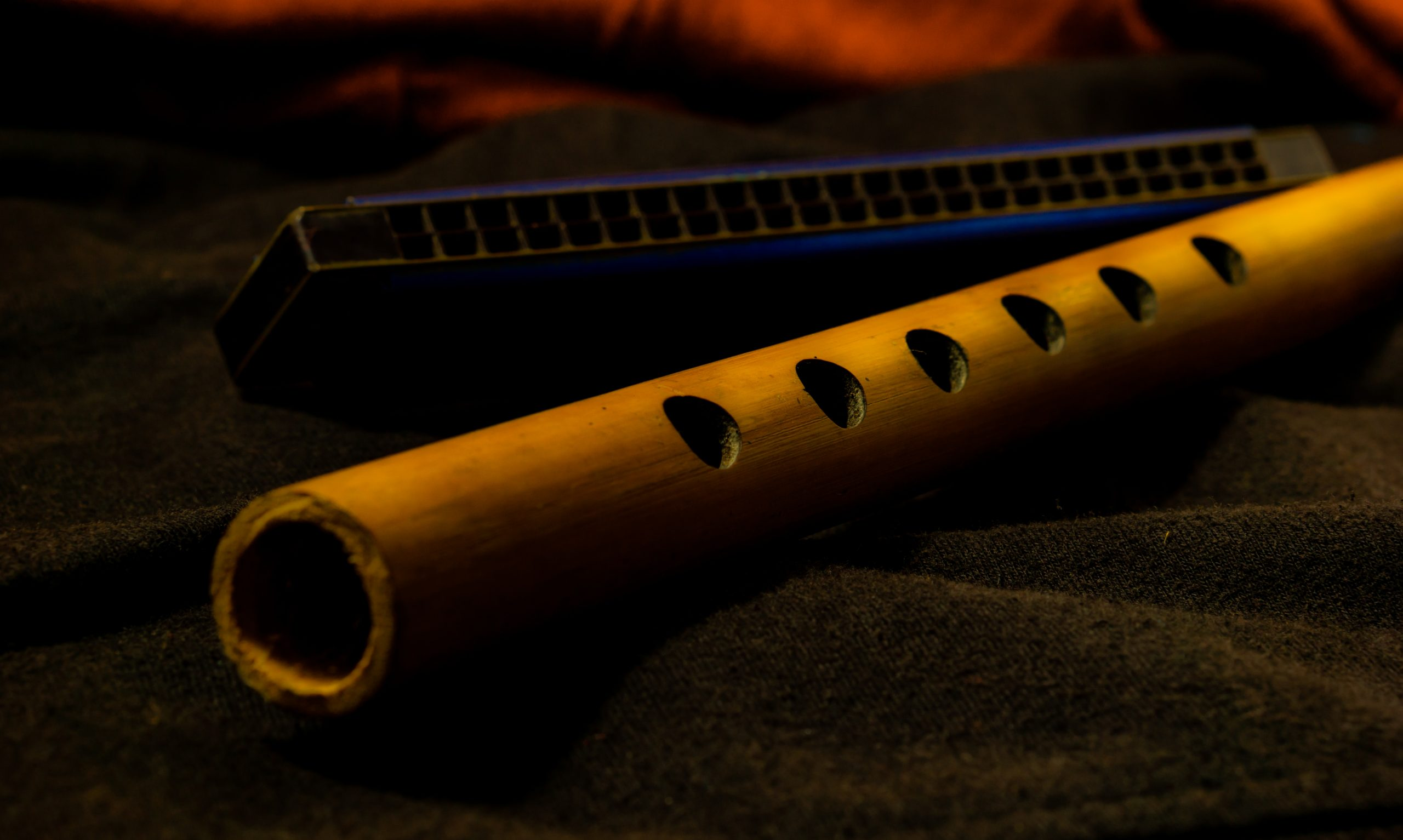 Flute and Harmonica