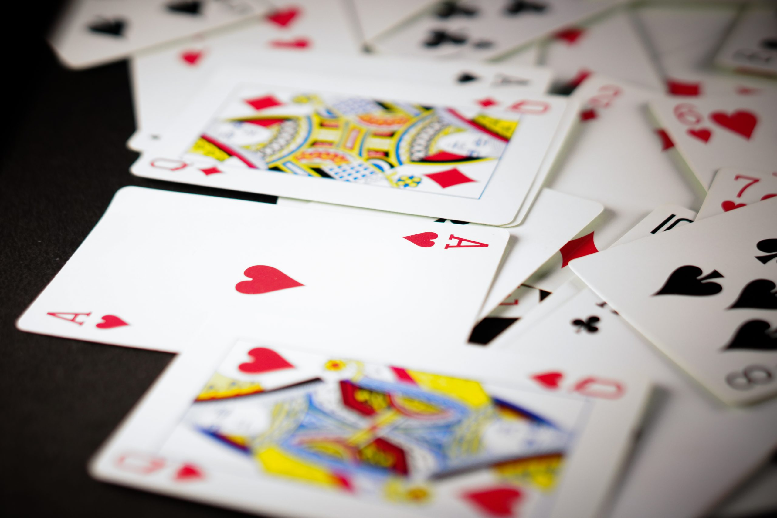 The ace of heart card