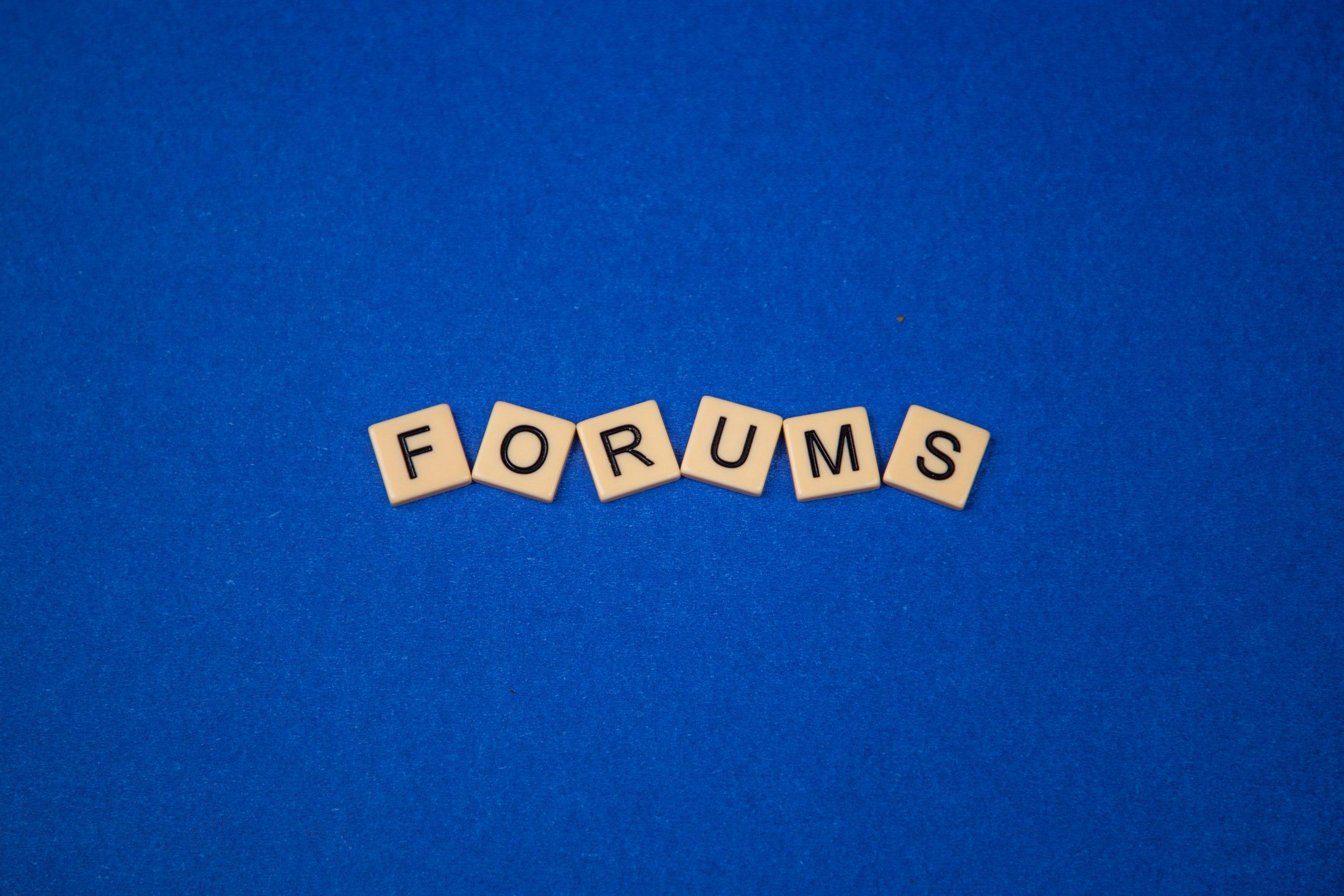 Forums written on scrabble