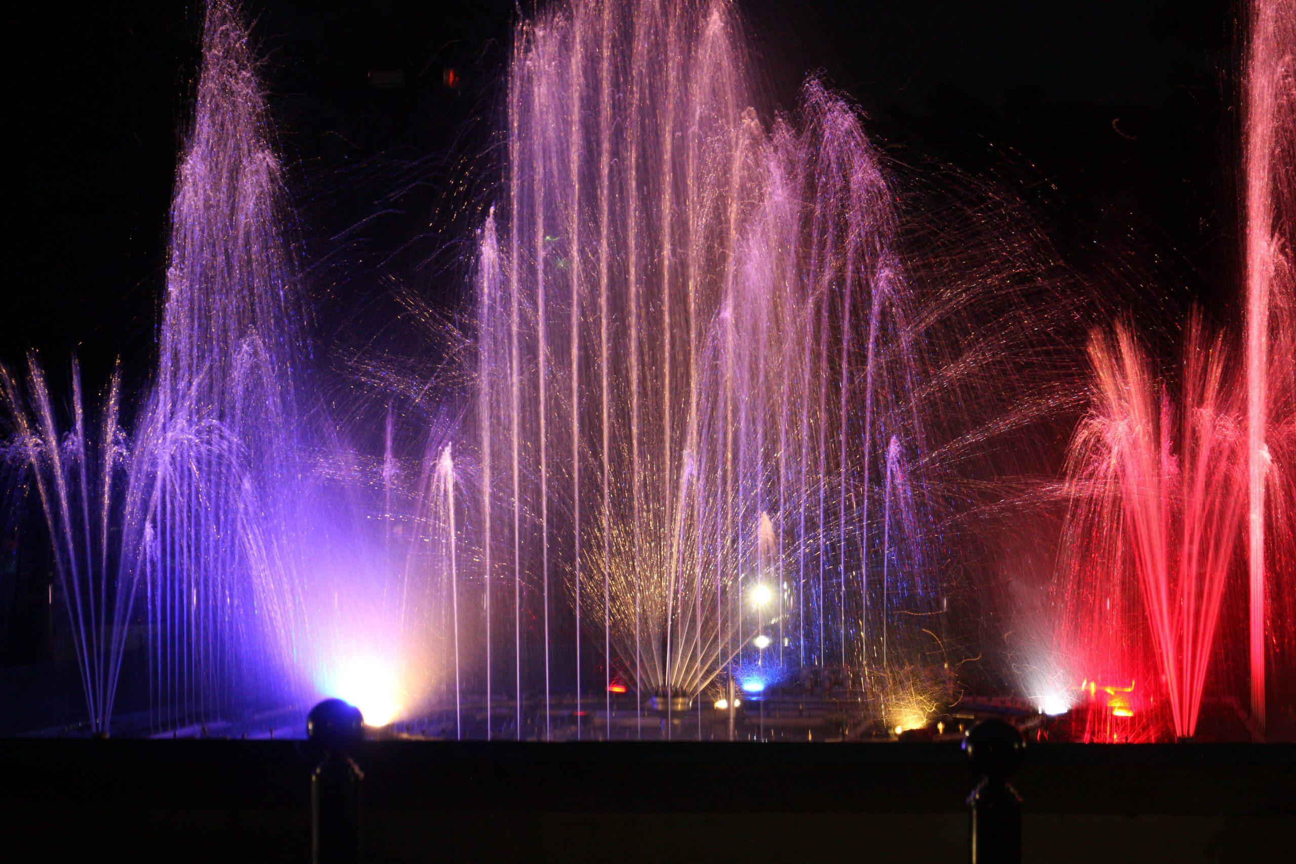 Fountains in Brindavan Gardens