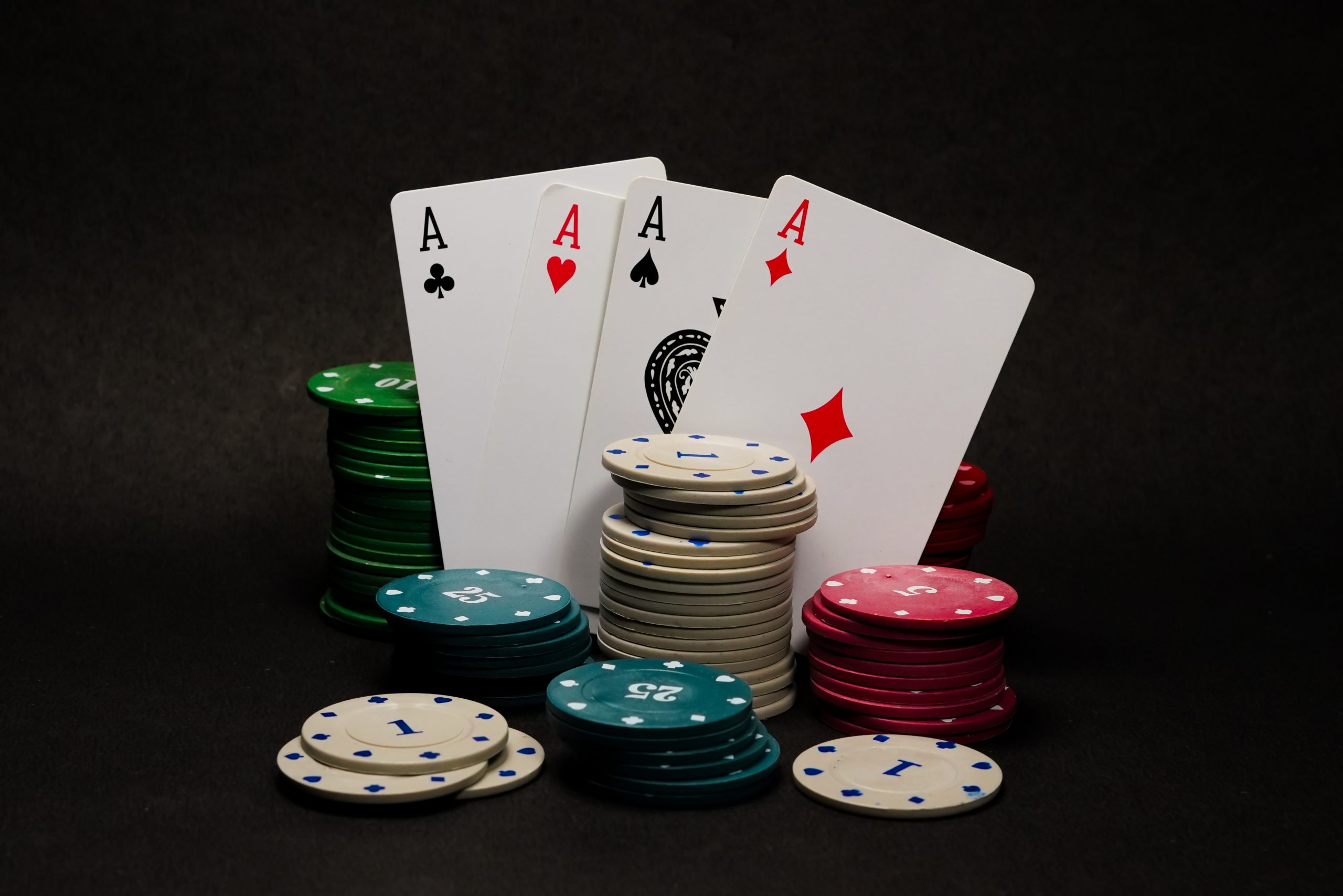 Poker deck of cards