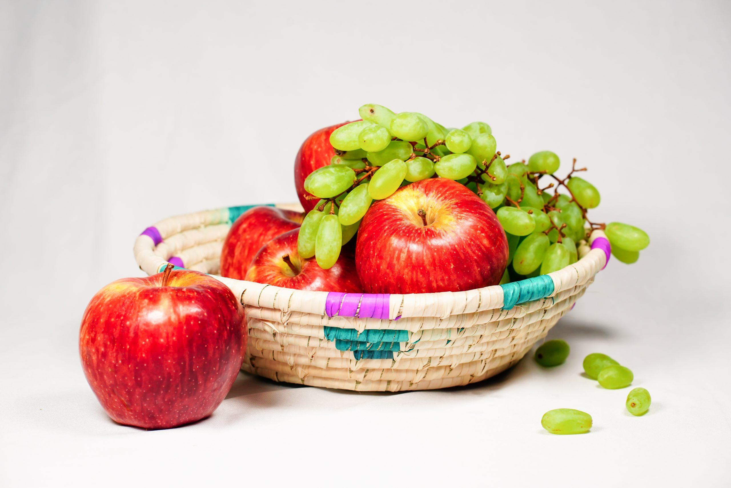 a basket of fresh fruits