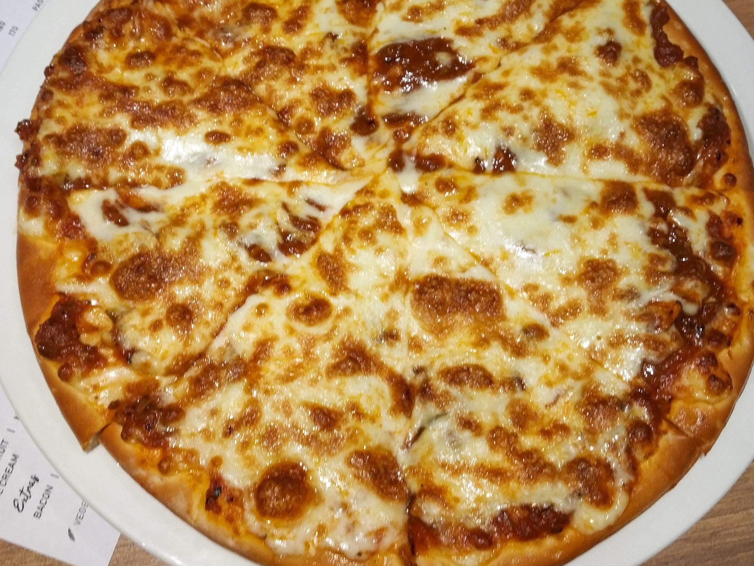 Fresh pizza dish
