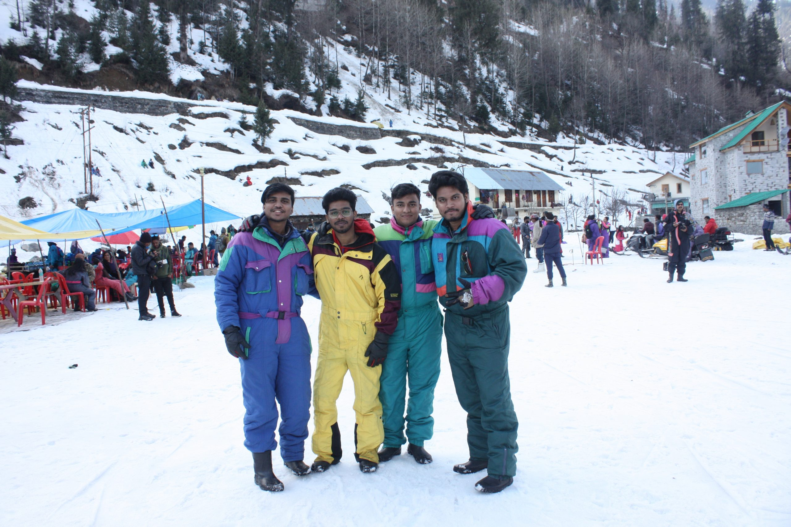 Friends on a Skiing Trip