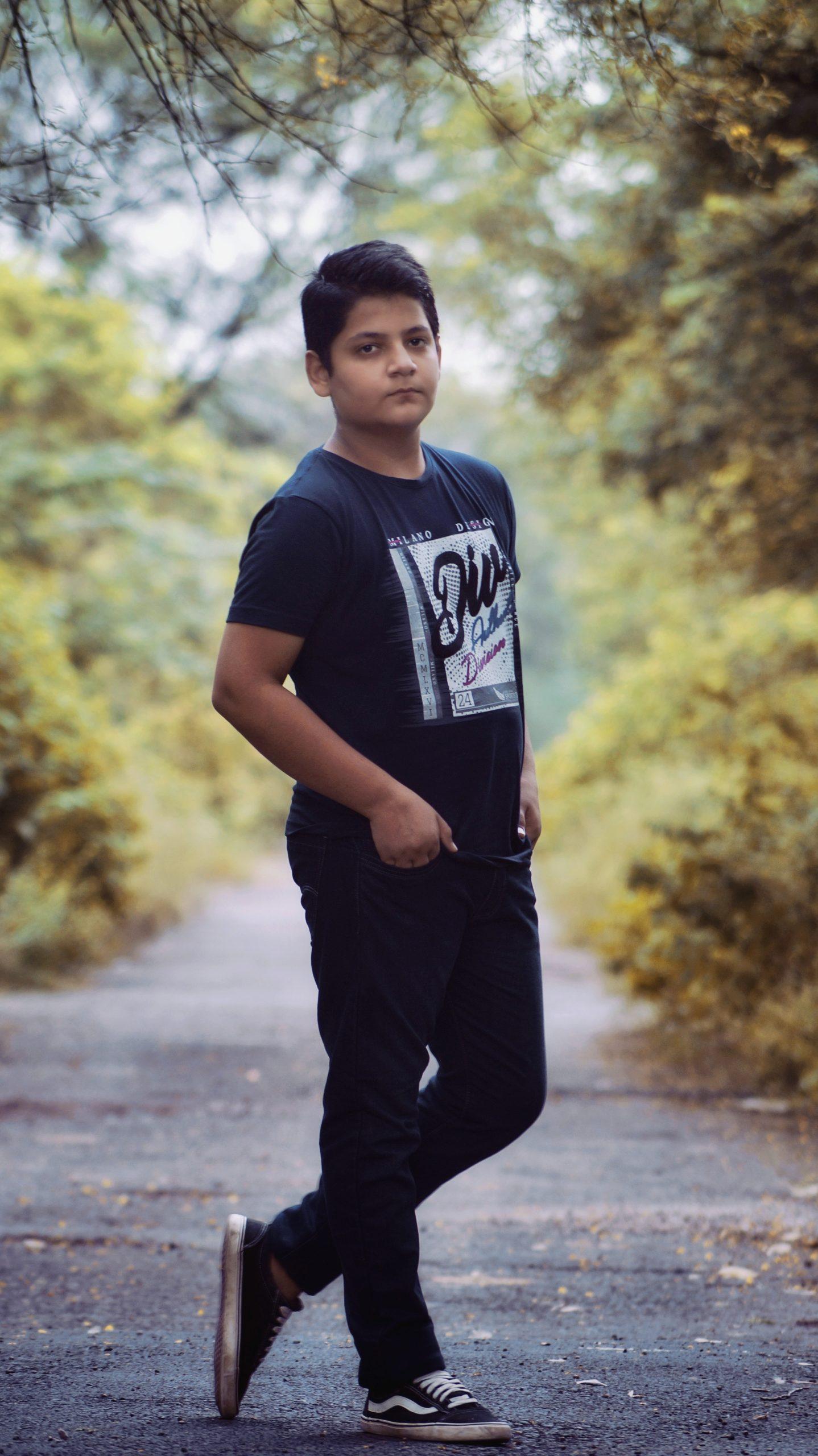 Full body shot of a Boy
