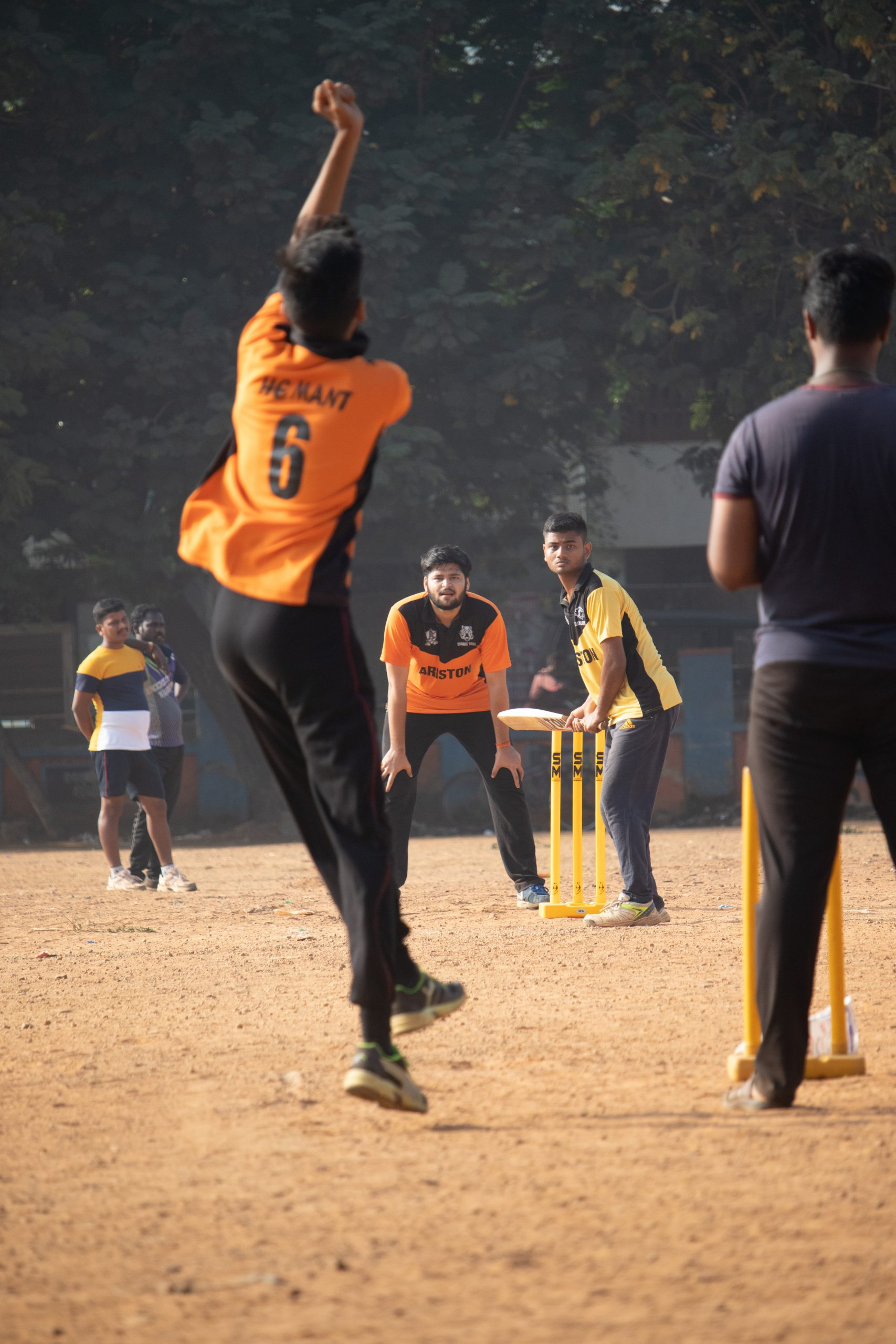 Game of Cricket in action