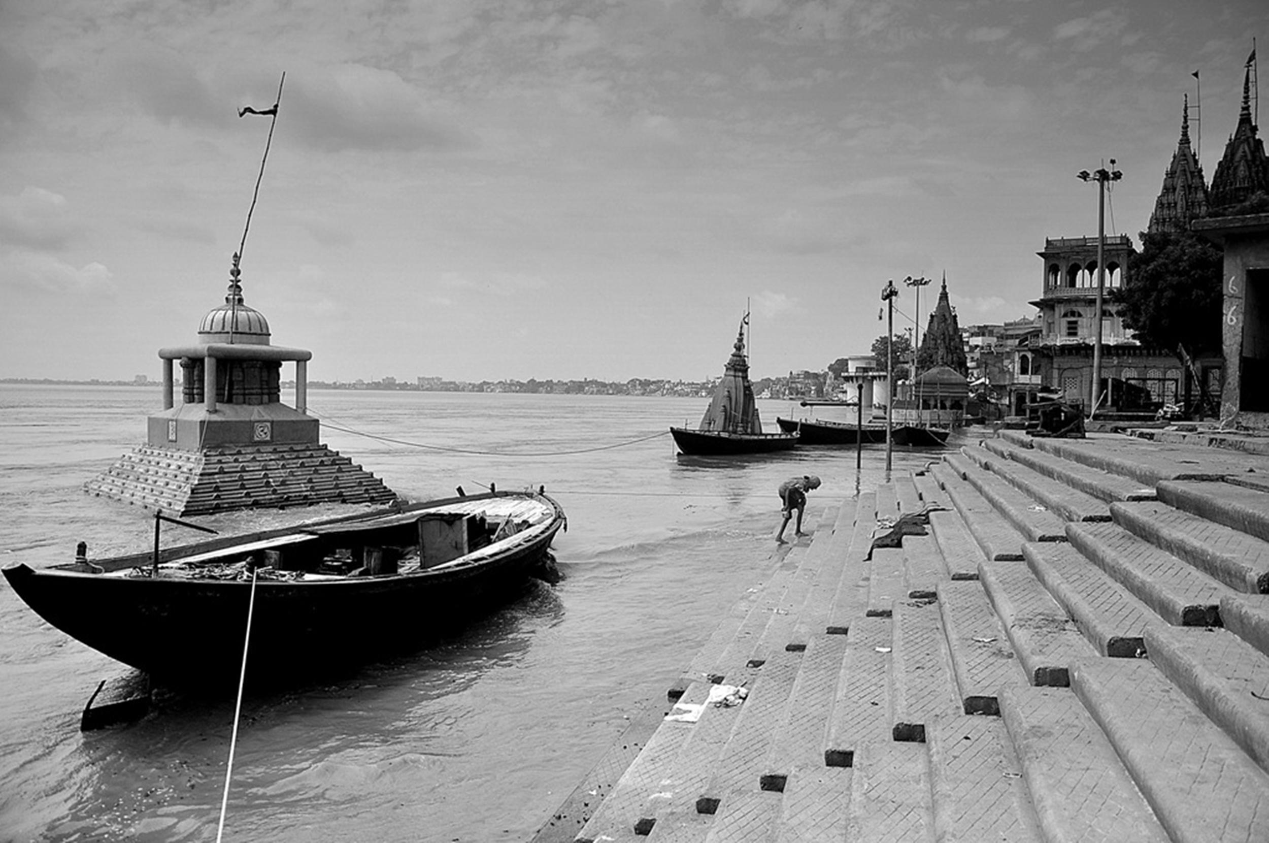 Ganga riverbank in Varanasi