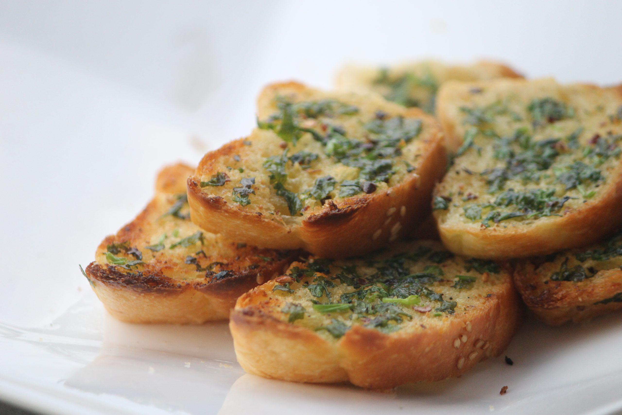 Garlic bread for breakfast