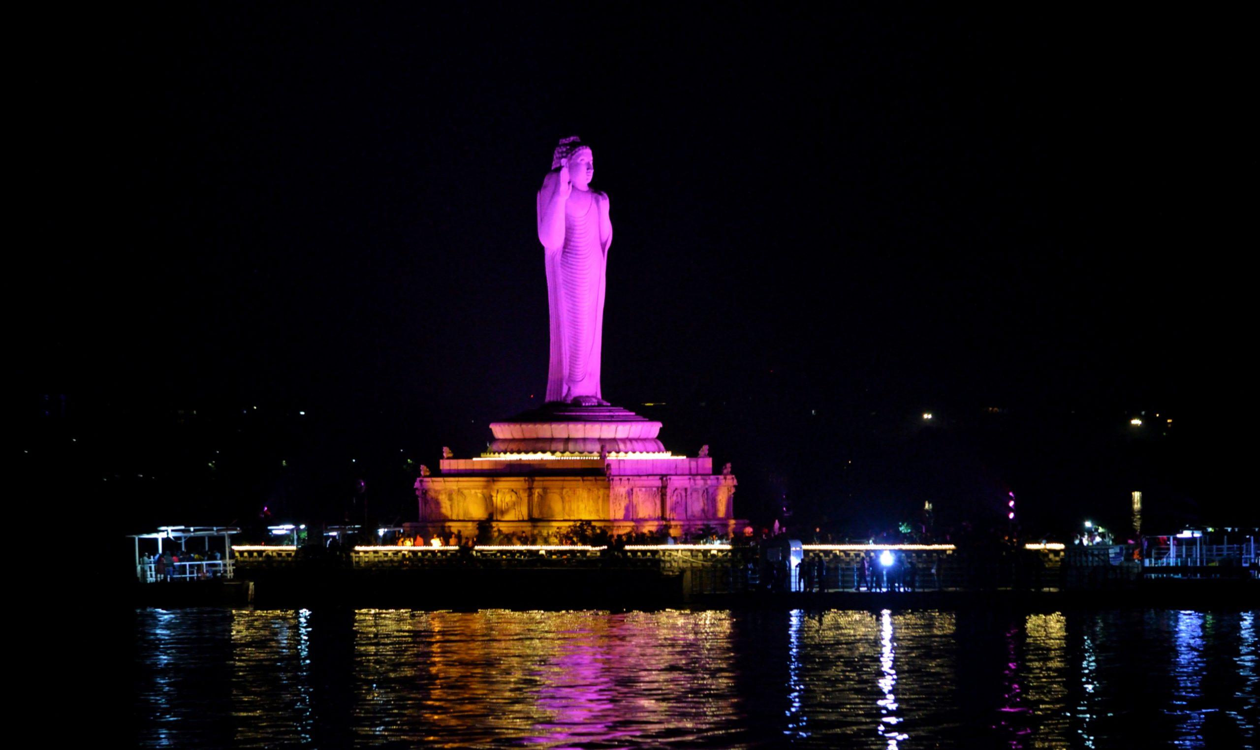Gautama Buddha in Hussain Sagar Lake