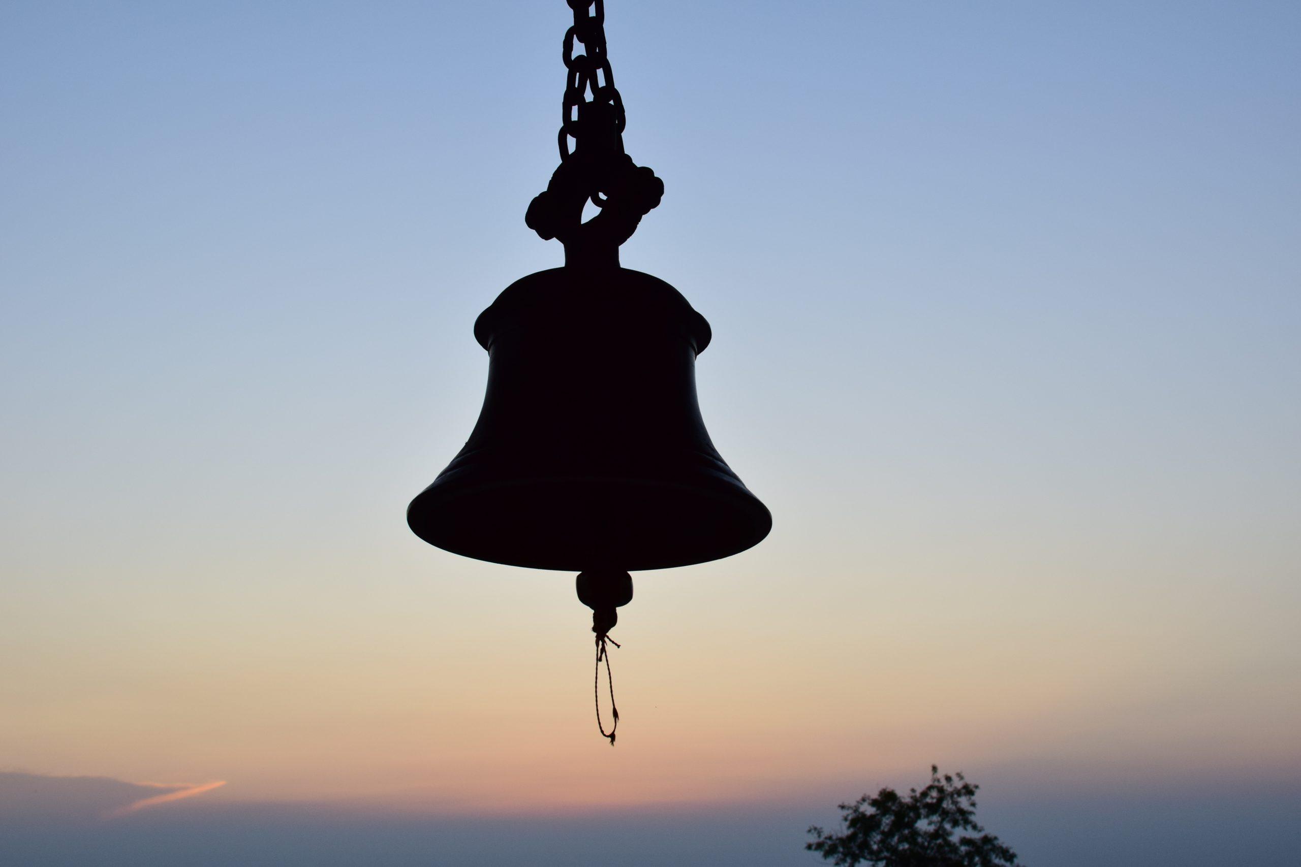 Ghanta ritual bell silhouette