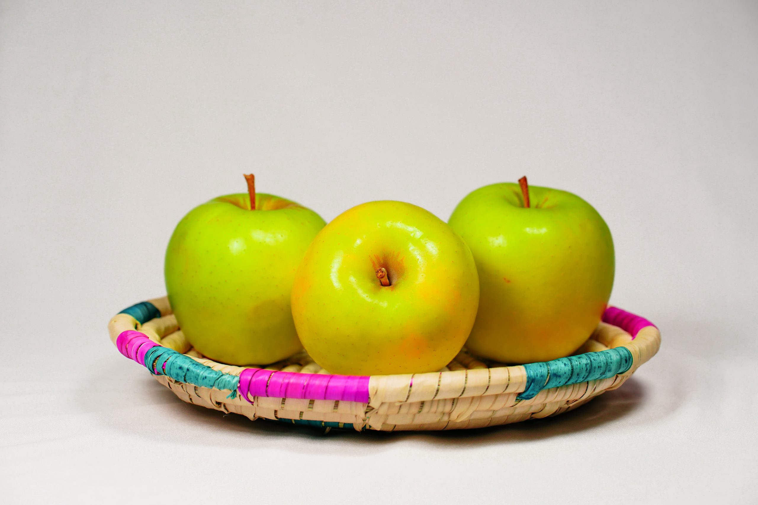 Golden apples in a basket