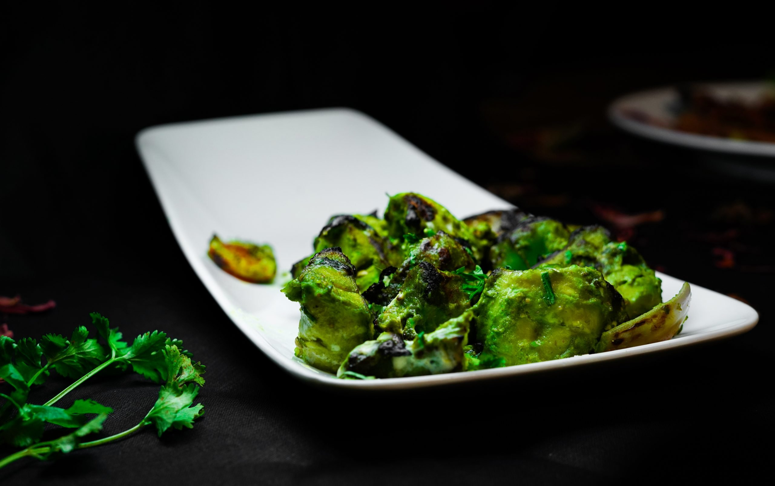 Green Dish on a Plate