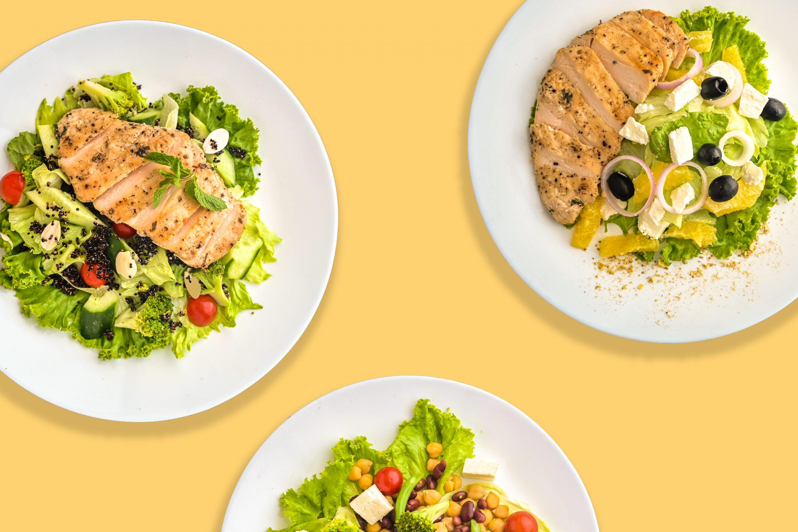 Green protein salads