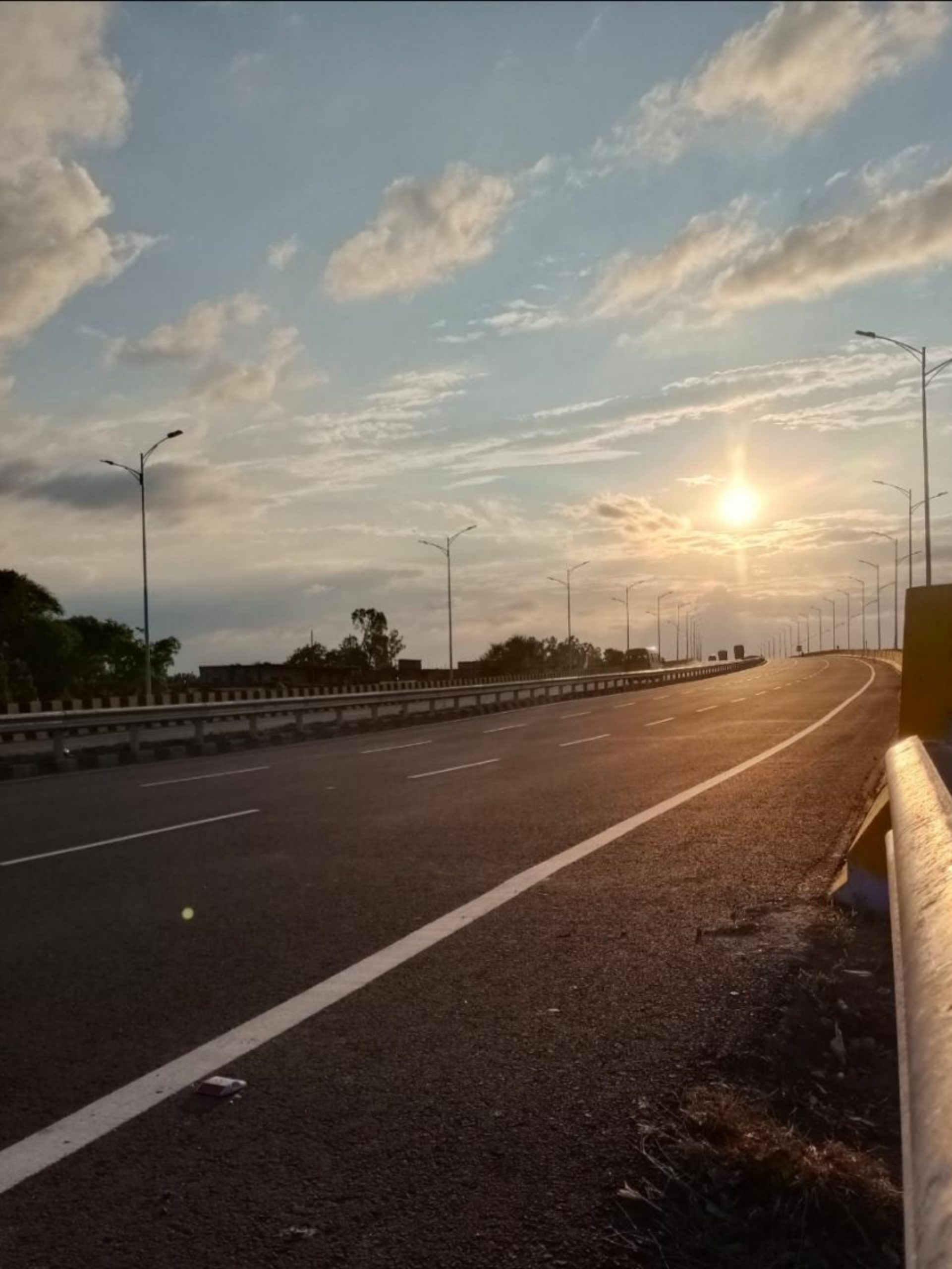 Early morning view of highway