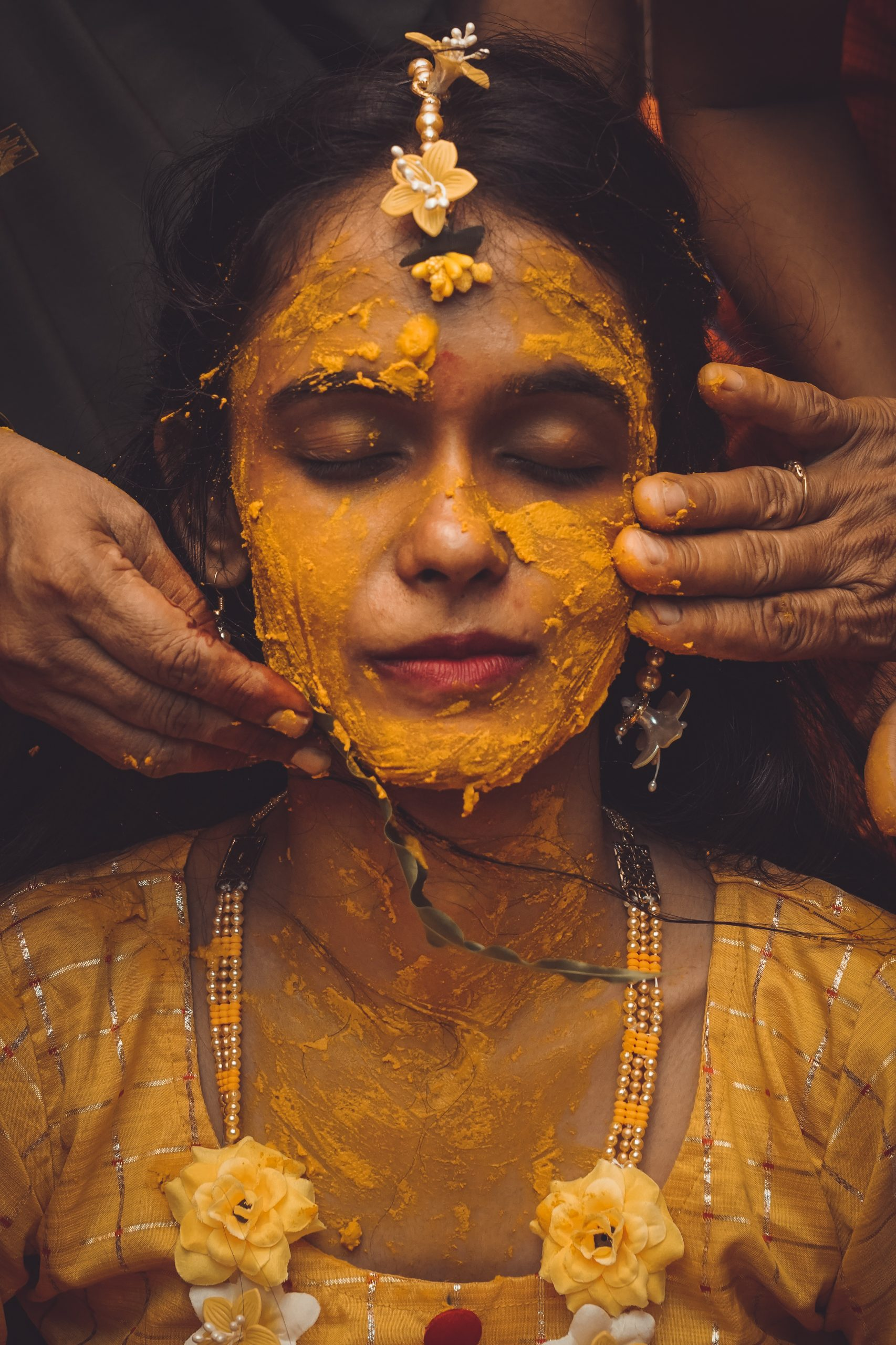 Haldi ceremony in an Indian wedding