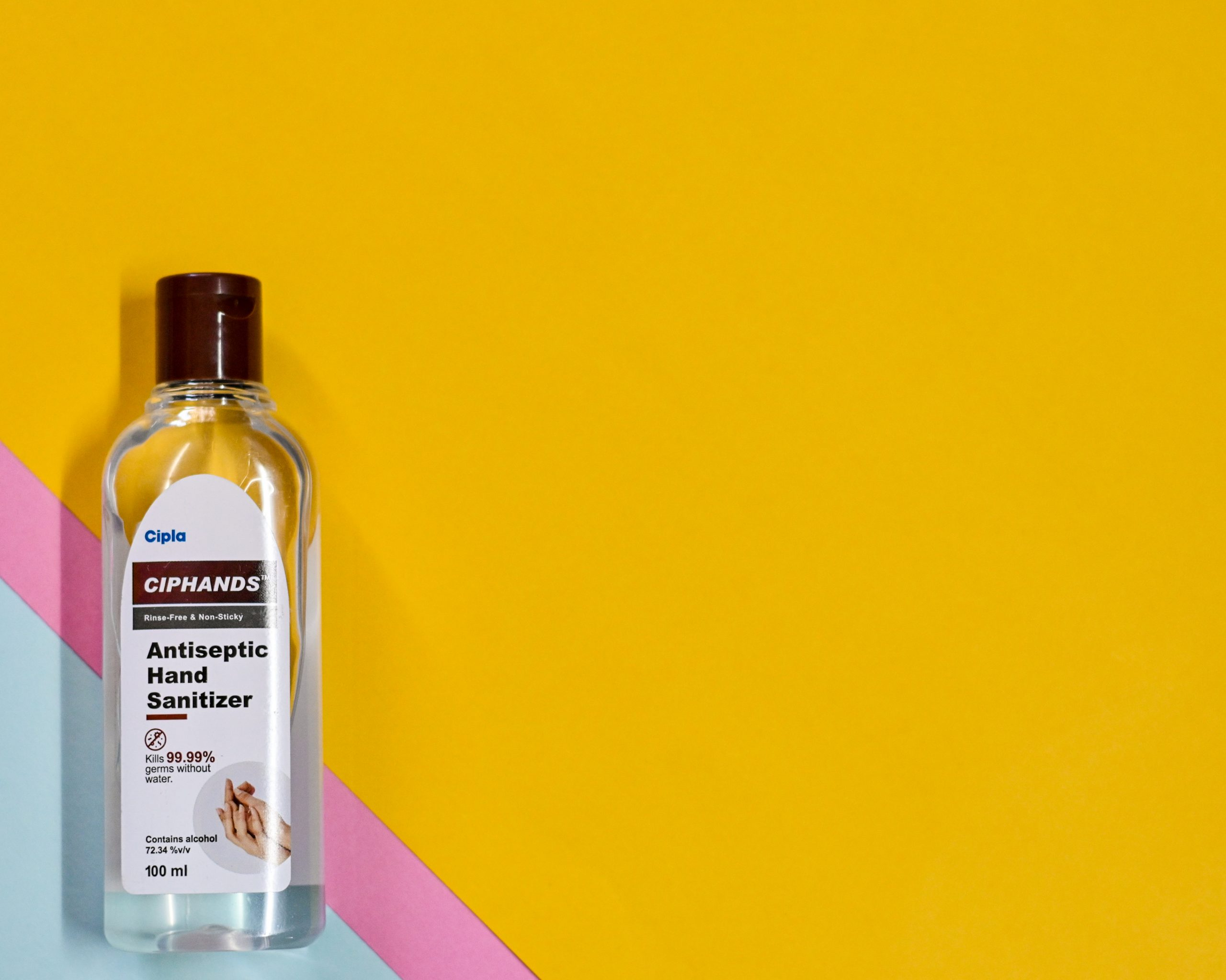 A bottle of hand sanitizer