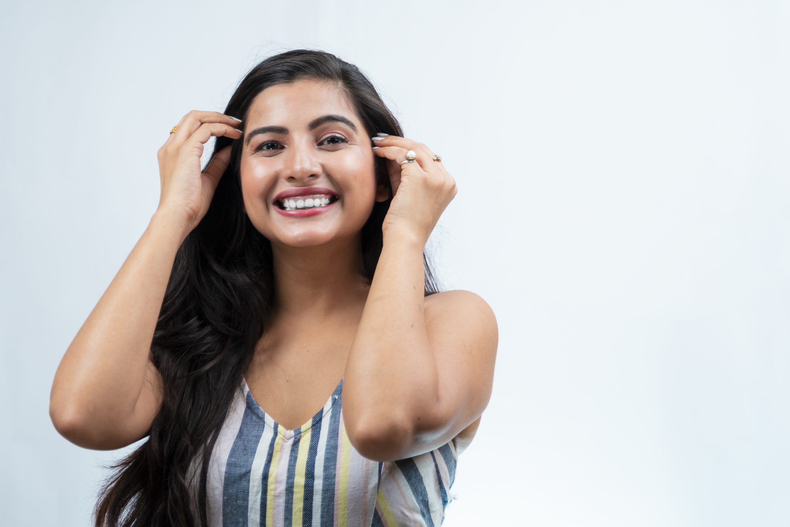 Happy indian girl smiling
