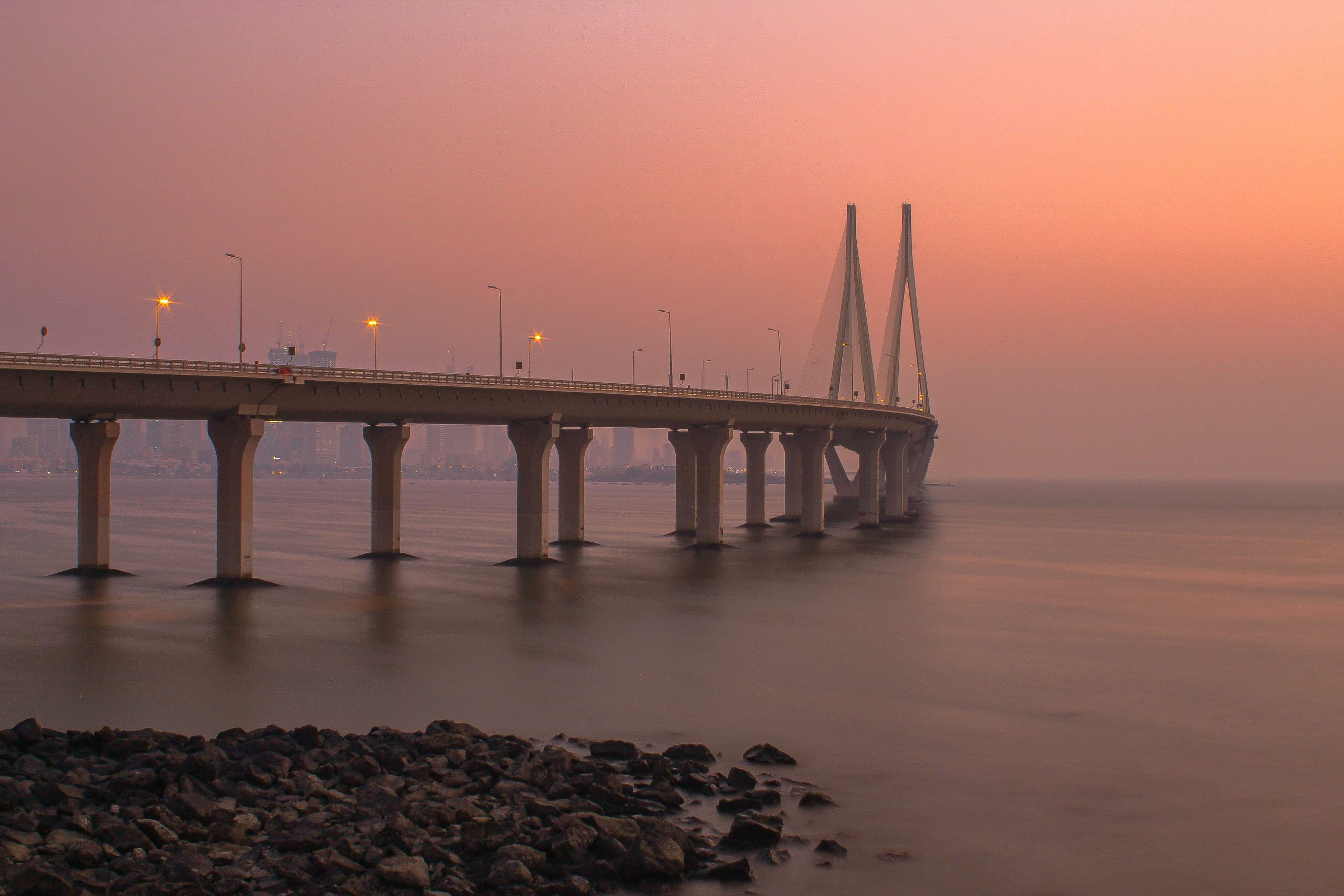 Hazy Sunset in Mumbai!
