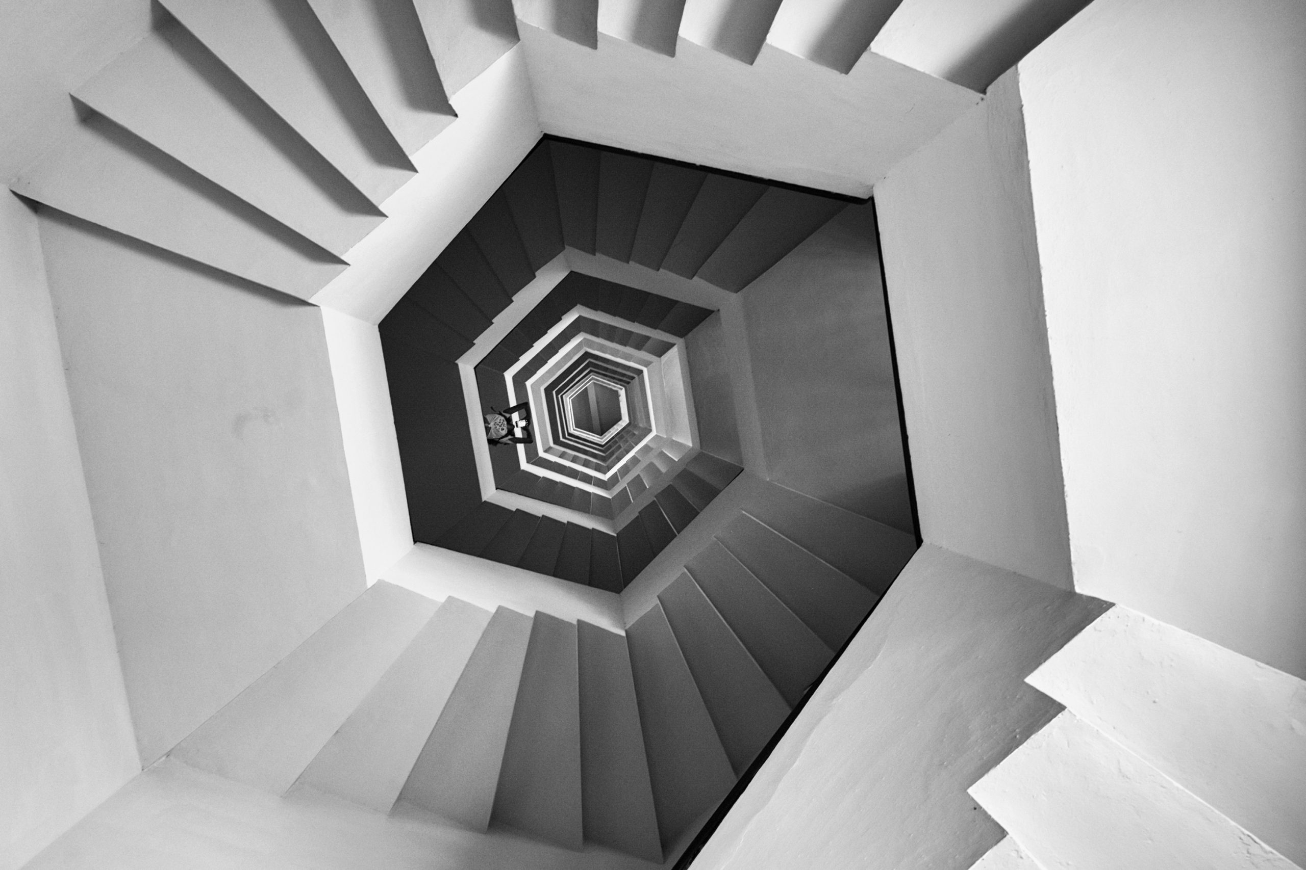 Hexagonal Spiral Staircase