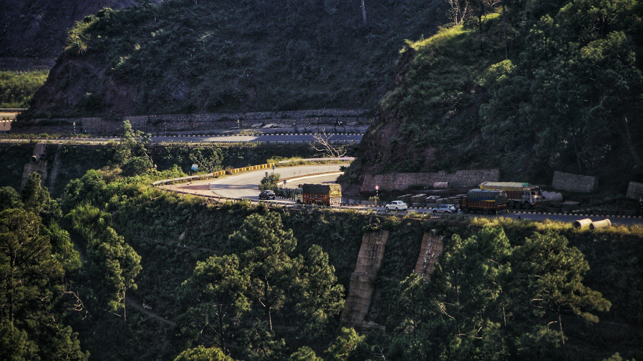 Highway through the hills.