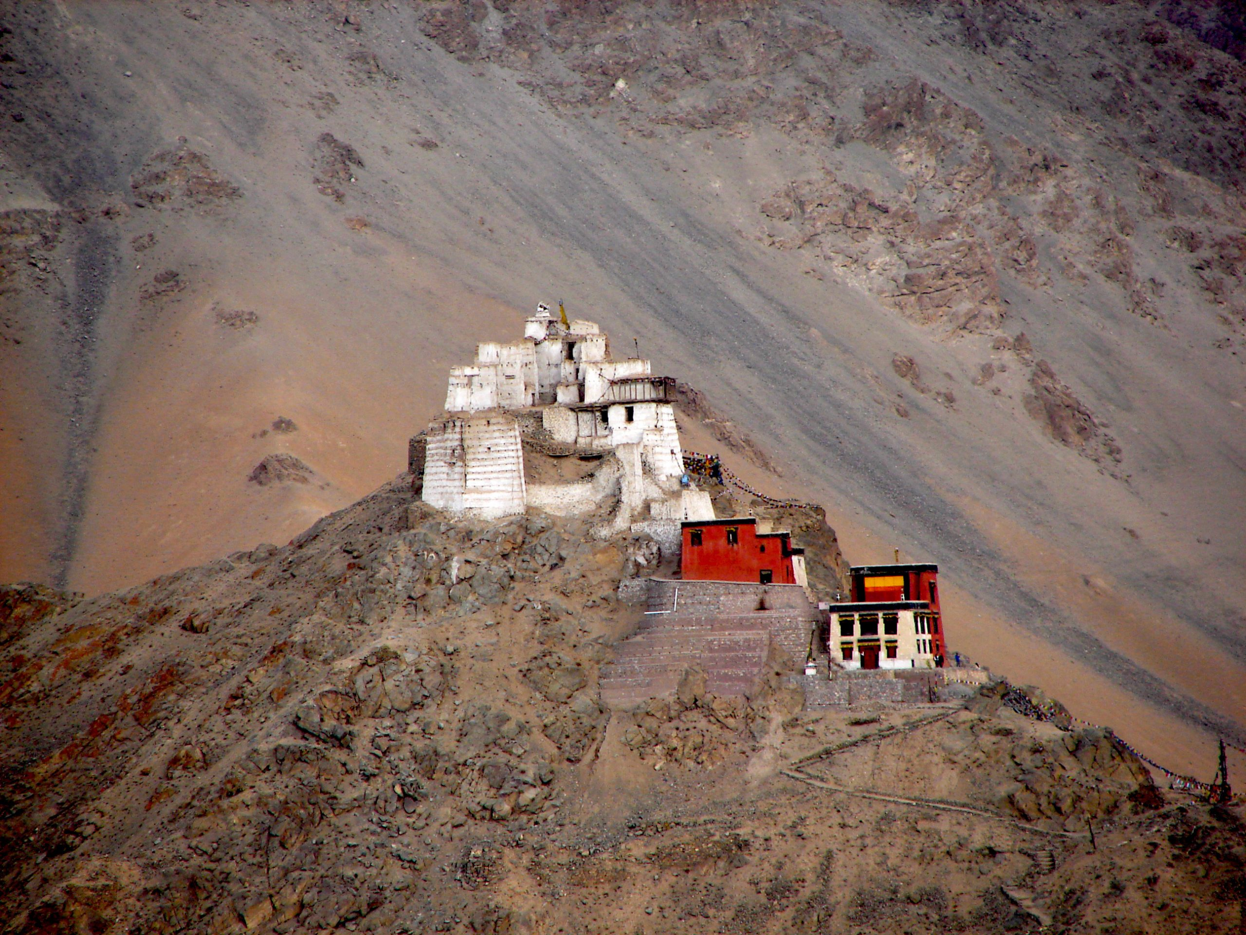 Hill Top featuring a Buddhist Monastery