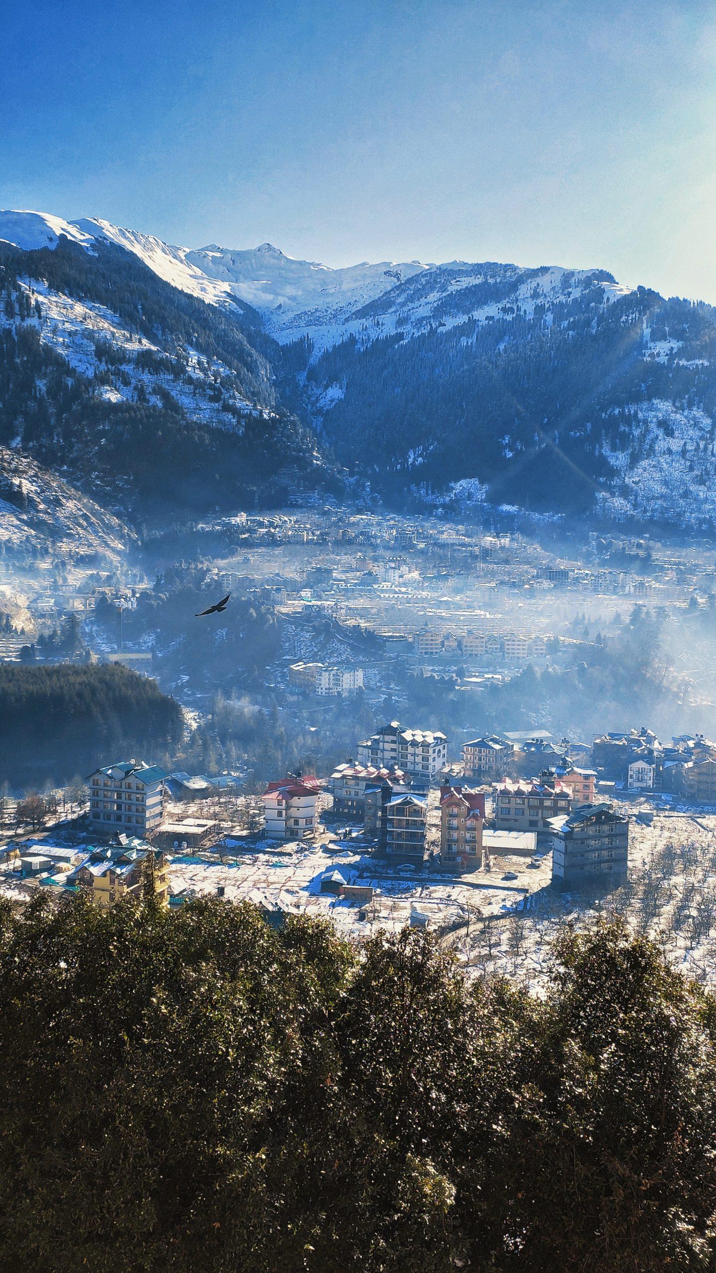 Hillside Village during winter