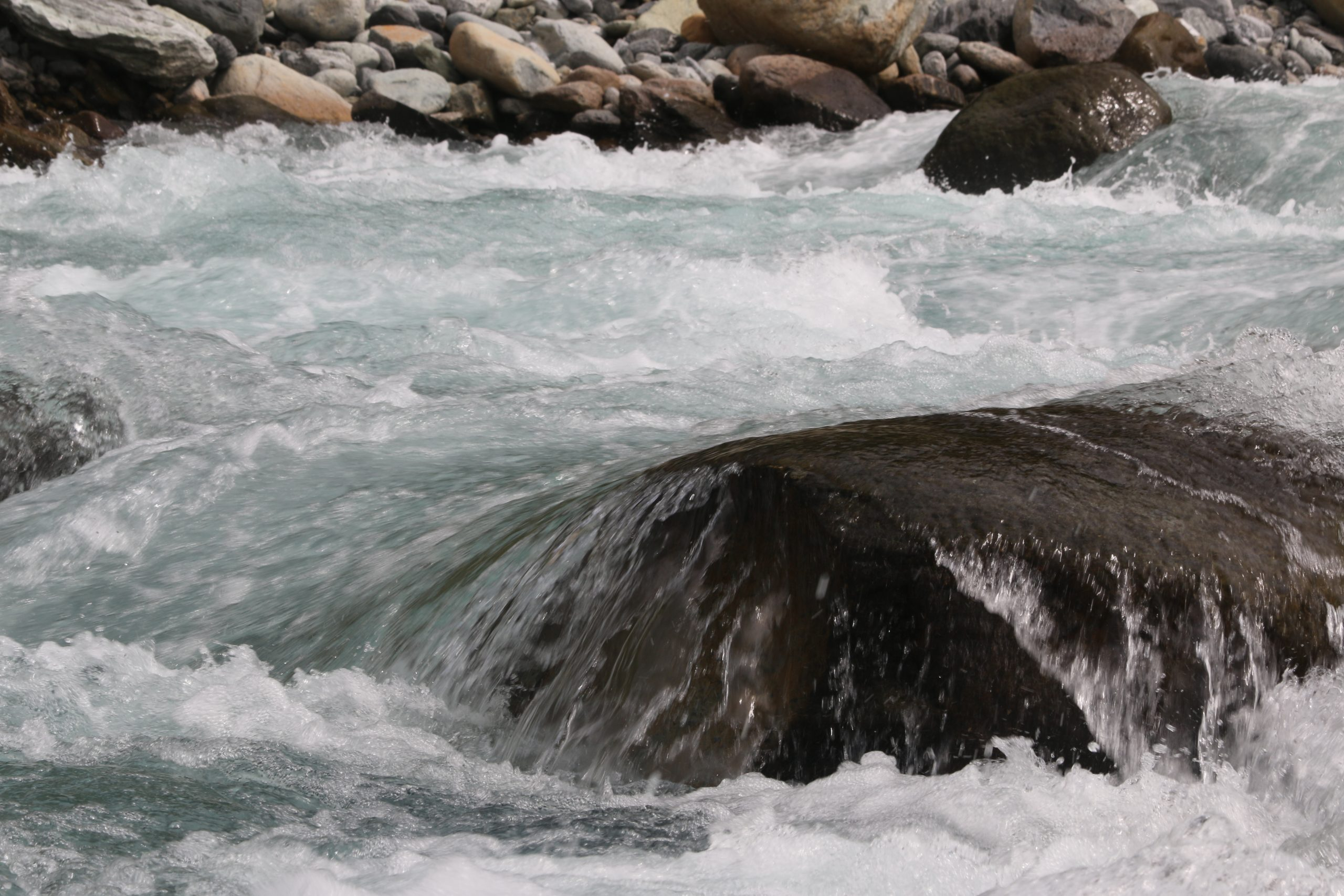 The river's strong rapids