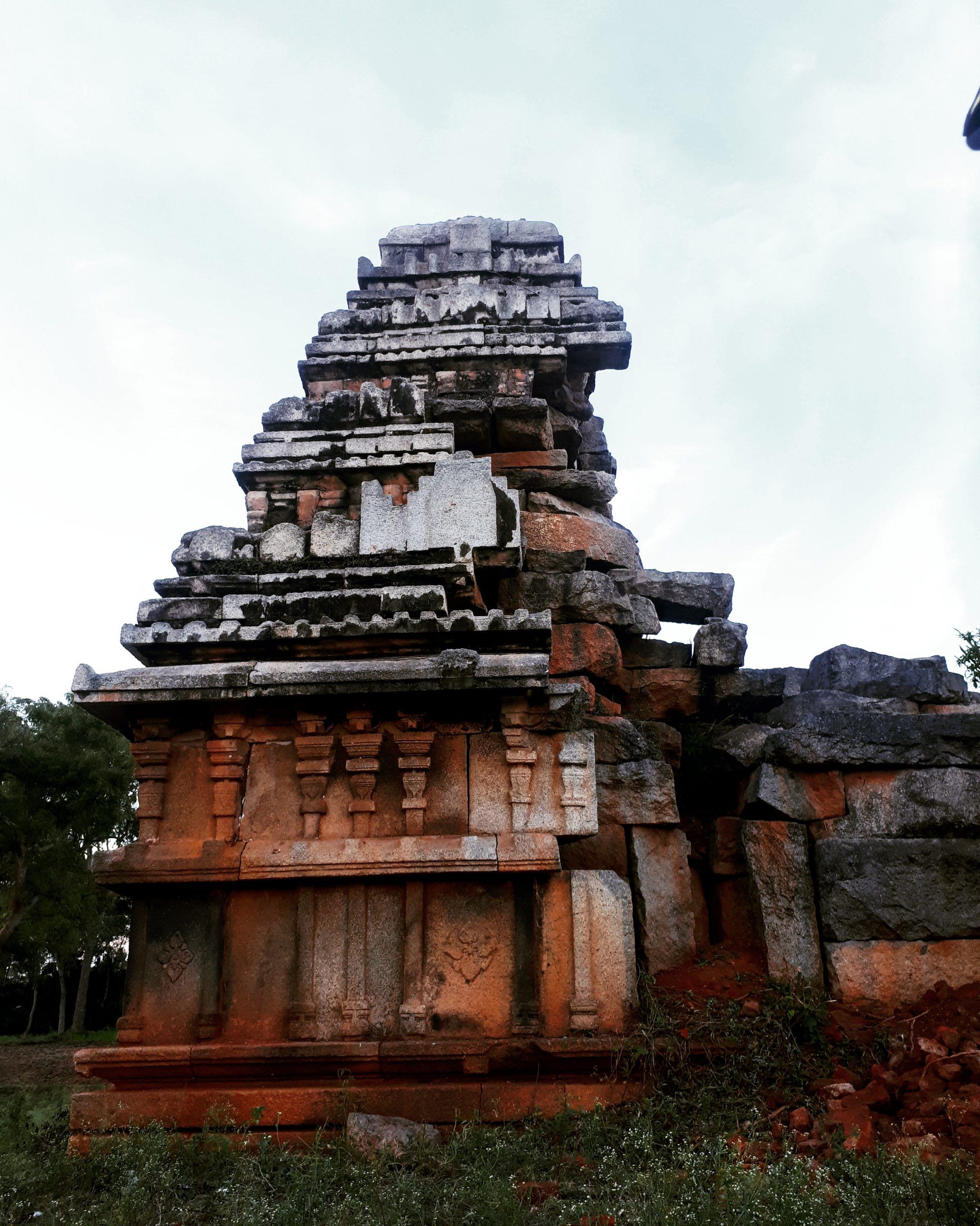 Hindu Temple Structure on Focus