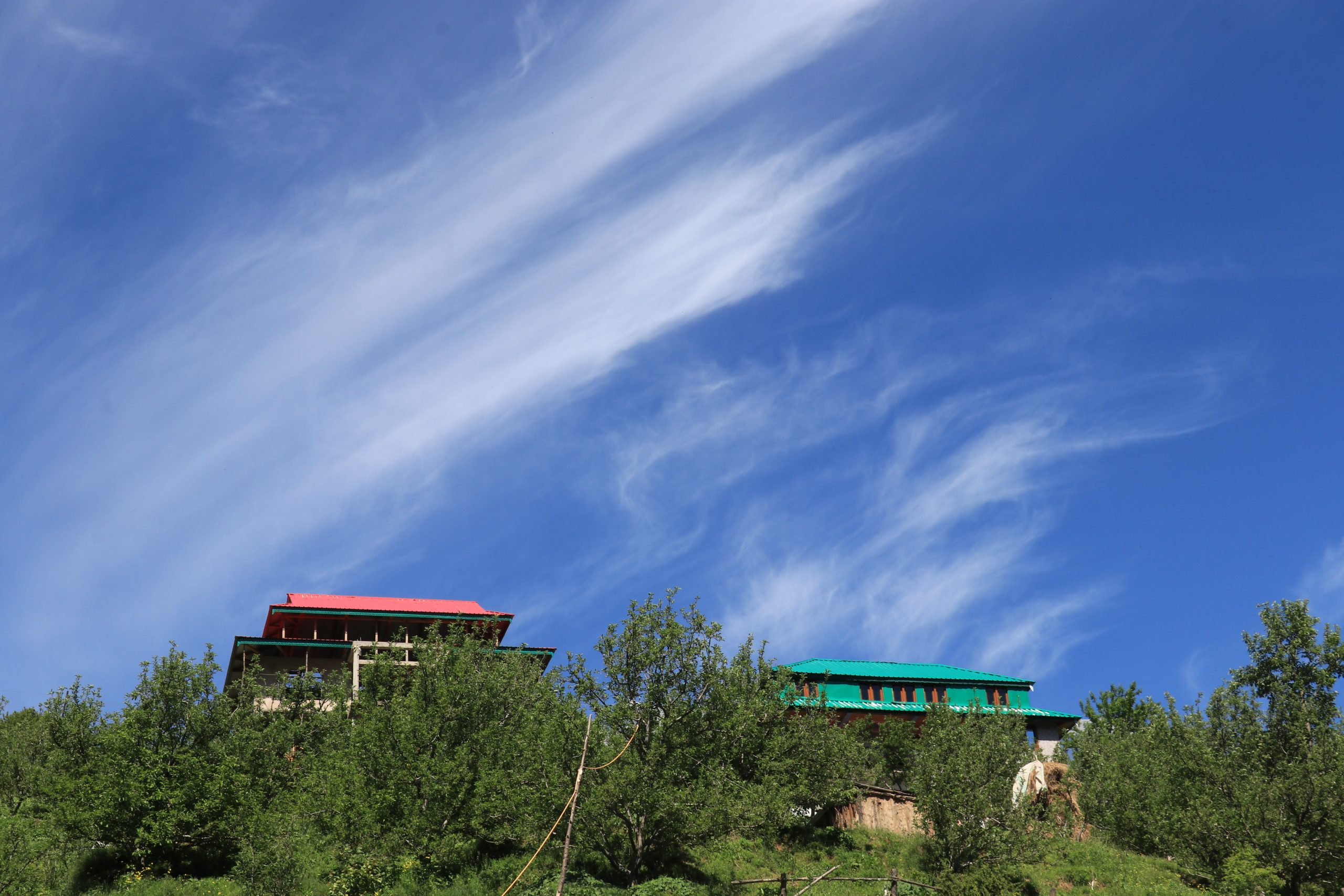 Houses of a hill station