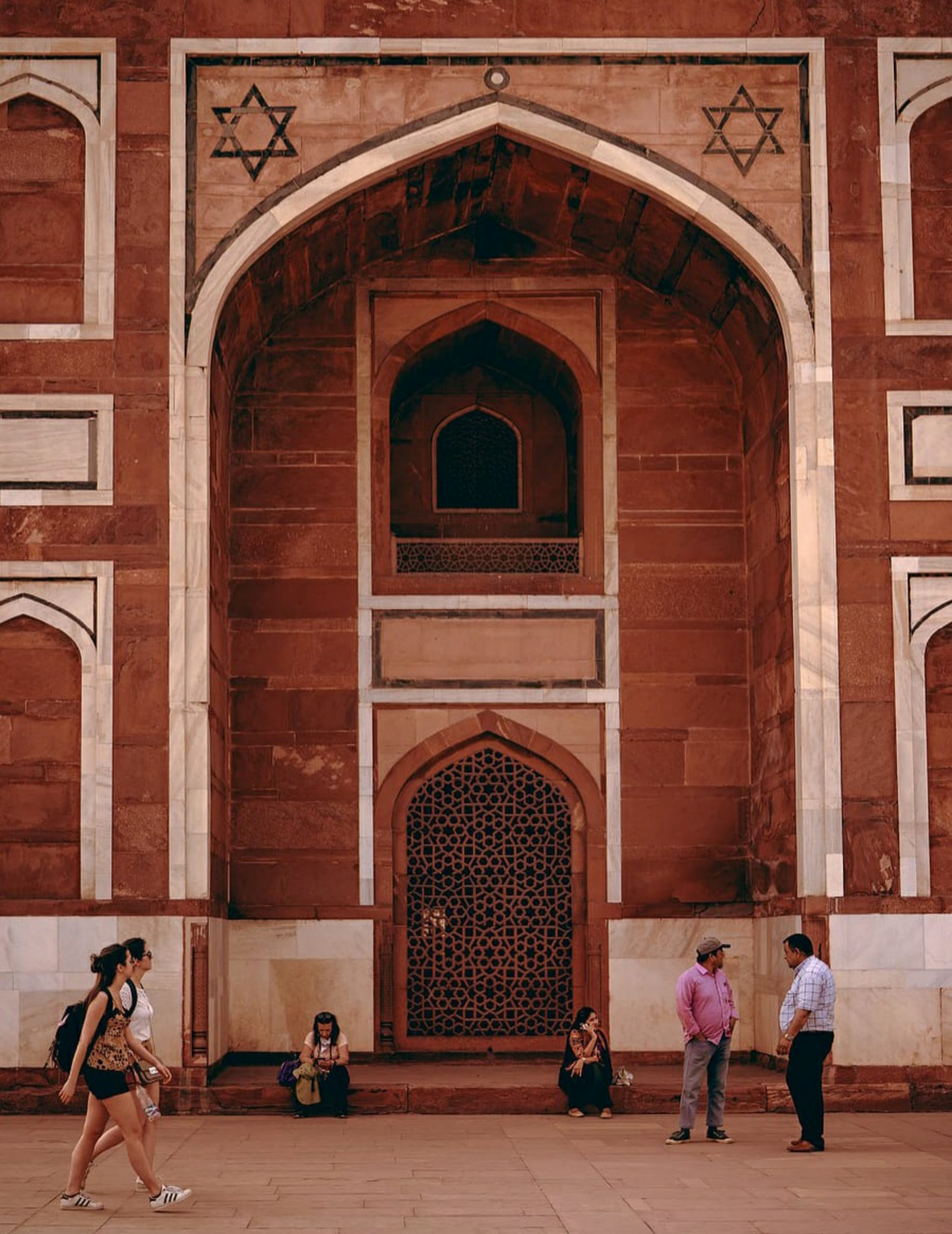Front door of the Humayun Tomb.