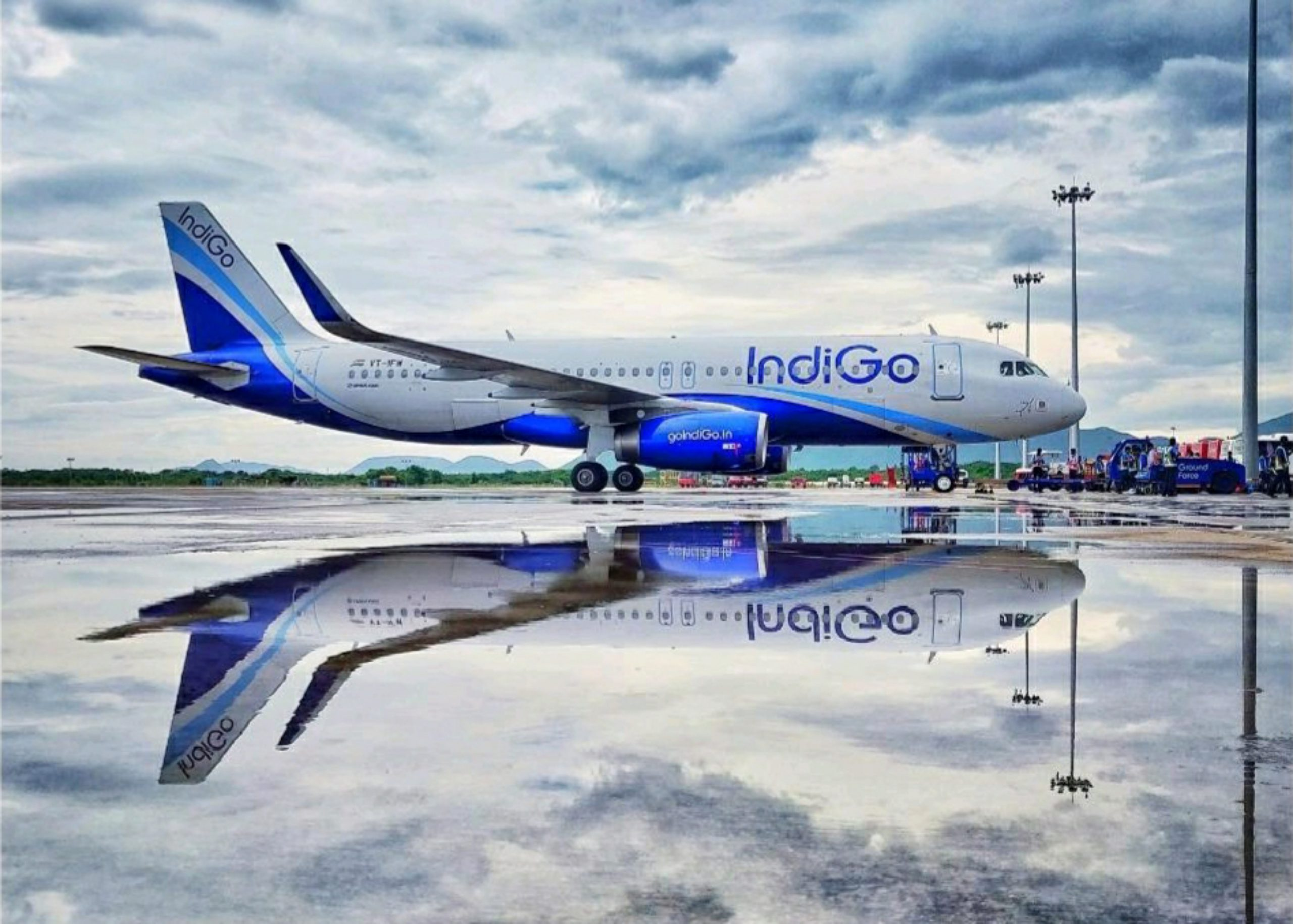 Airplane at IGI Airport, Delhi.