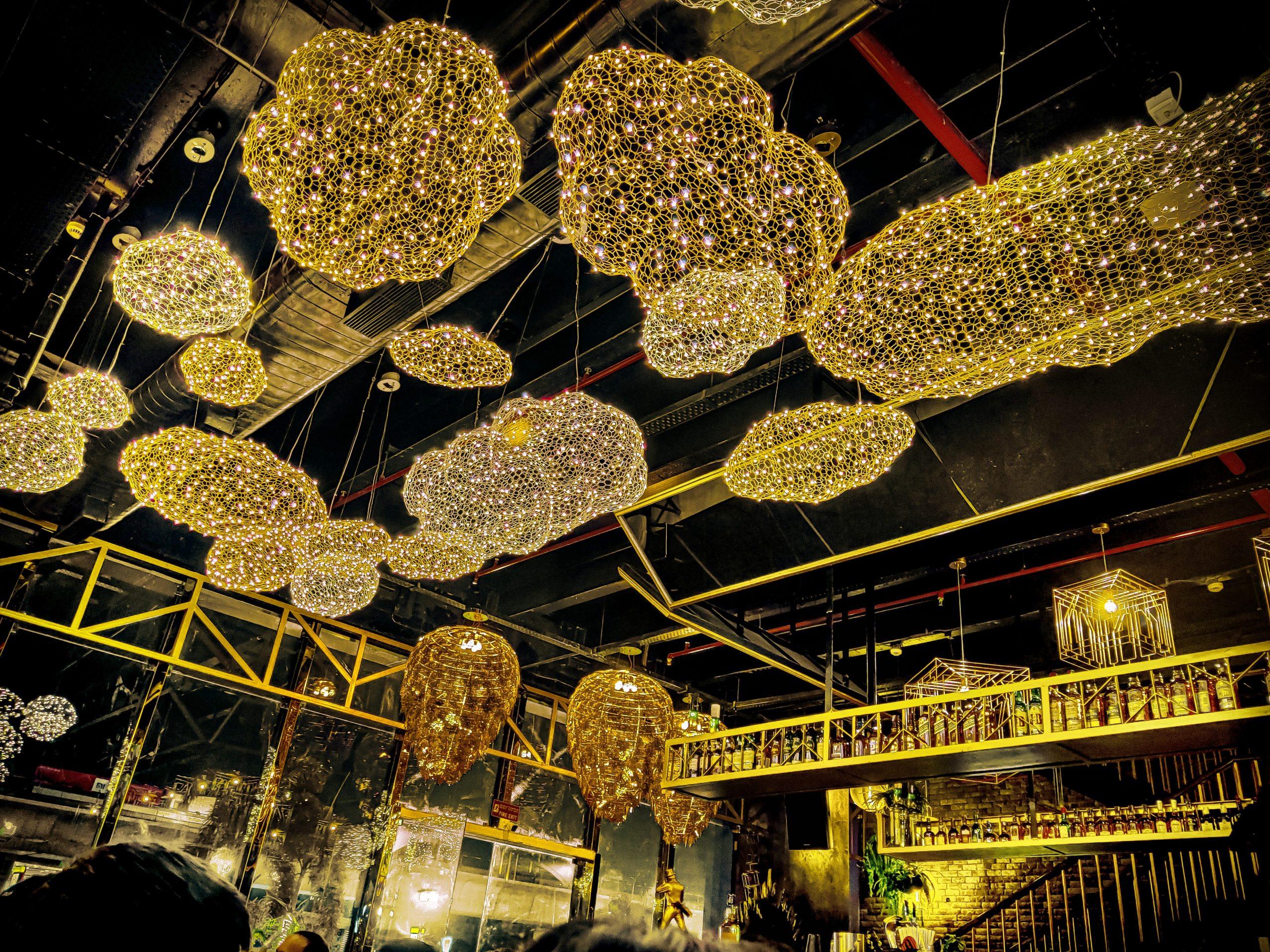 Chandelier in Restaurant