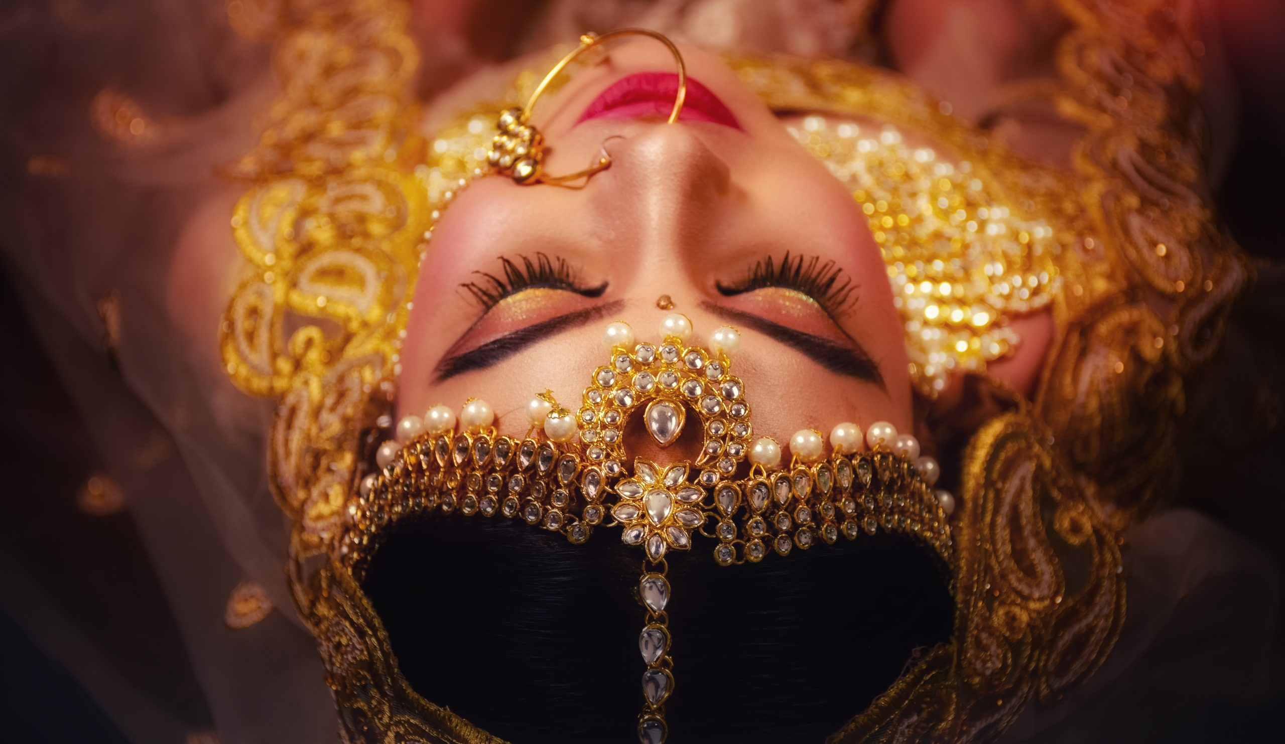 Indian Bride wearing a Lehenga