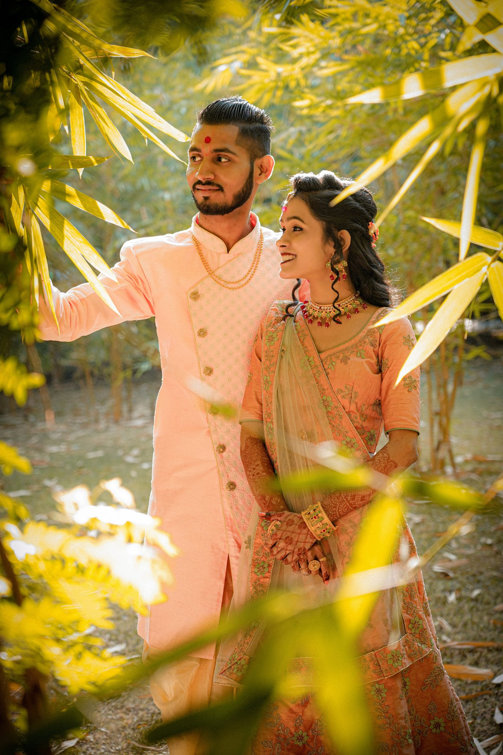 Indian Couple in the Nature