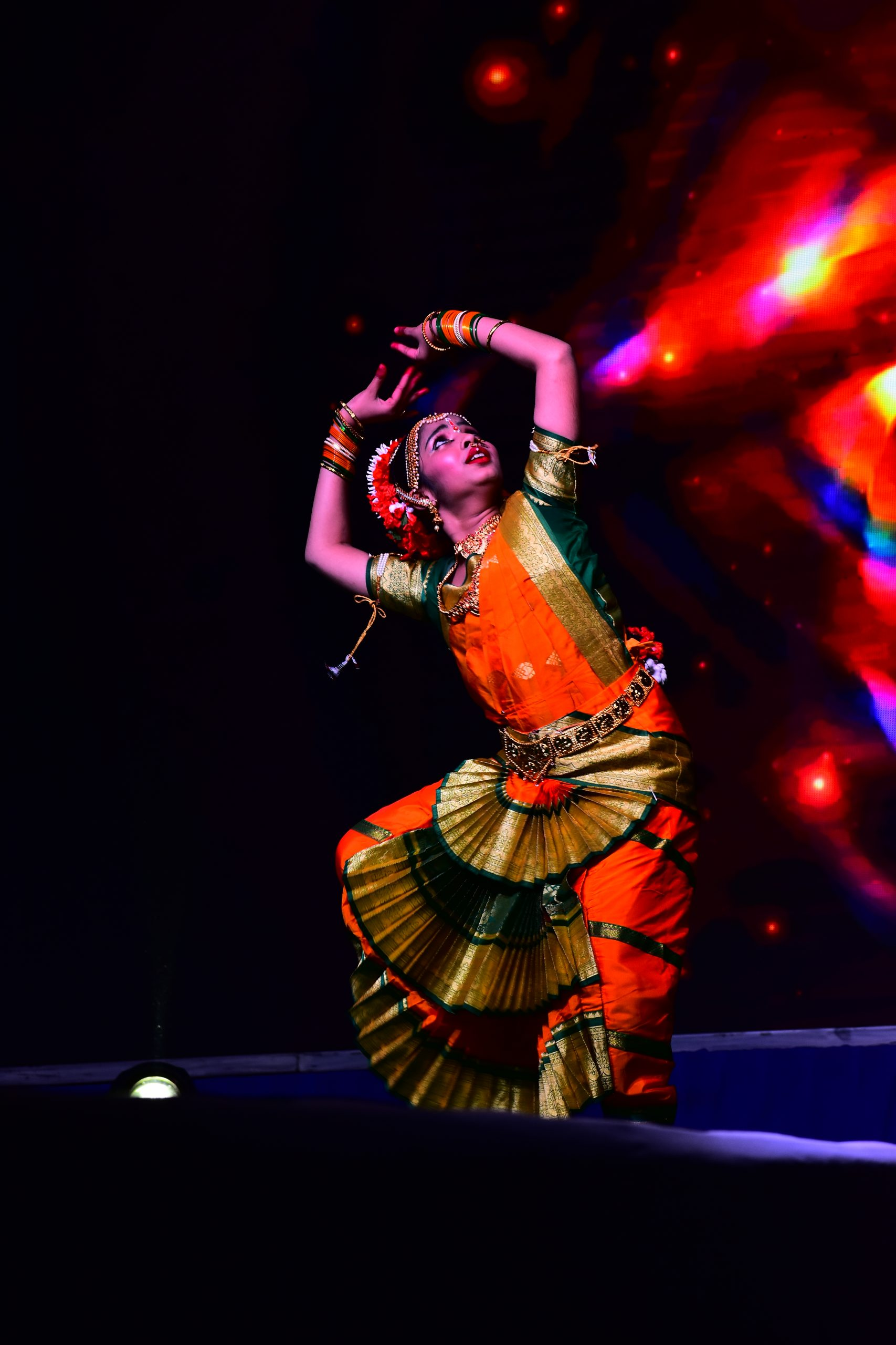 a girl performing classical dance