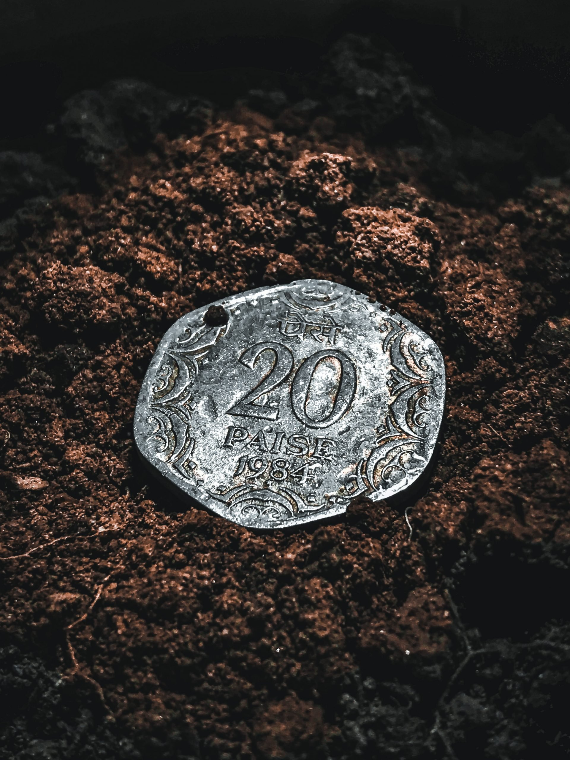 Indian money old coin