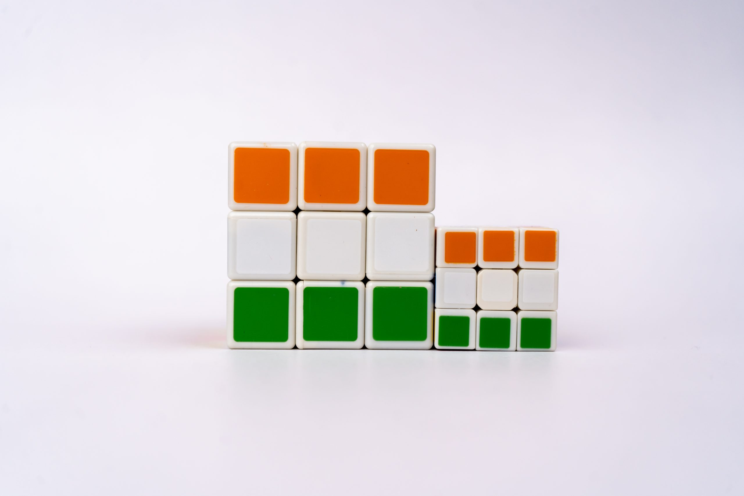 India's flag on Rubik Cube