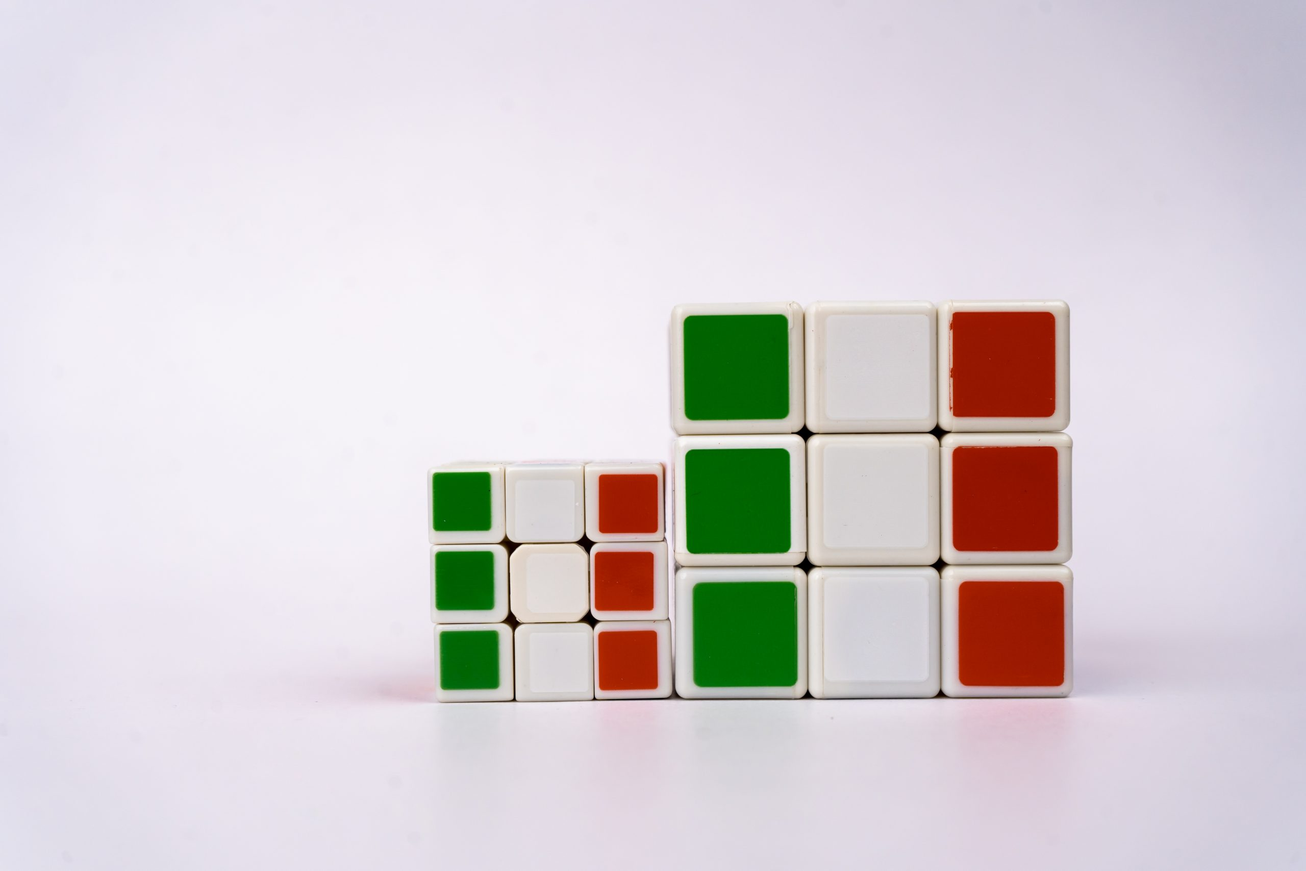 Italy flag on pair of cubes