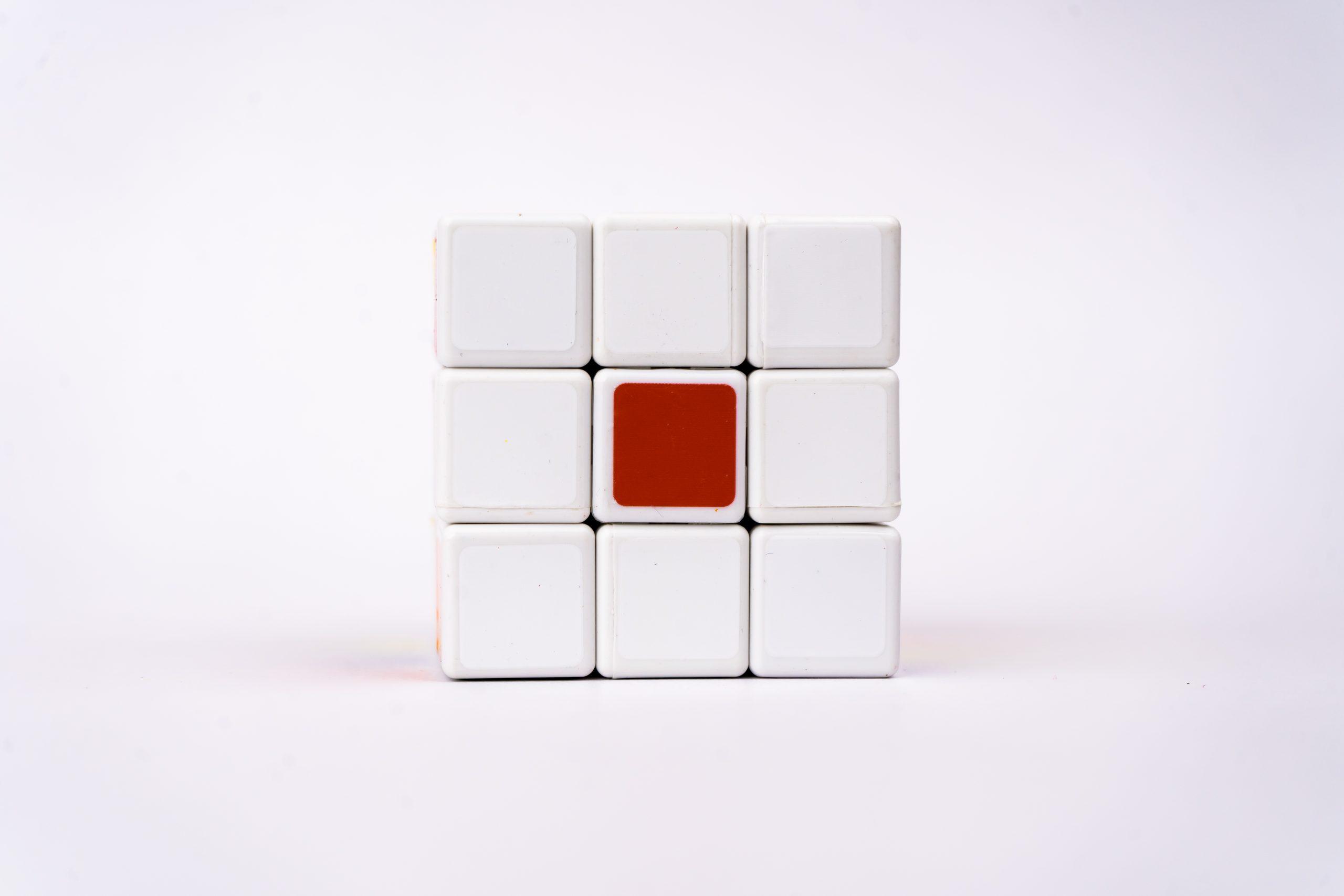 Japan flag on cube